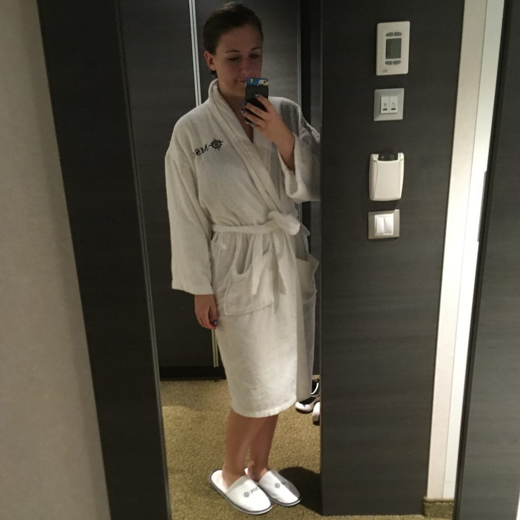 msc dressing gown and slippers black perks