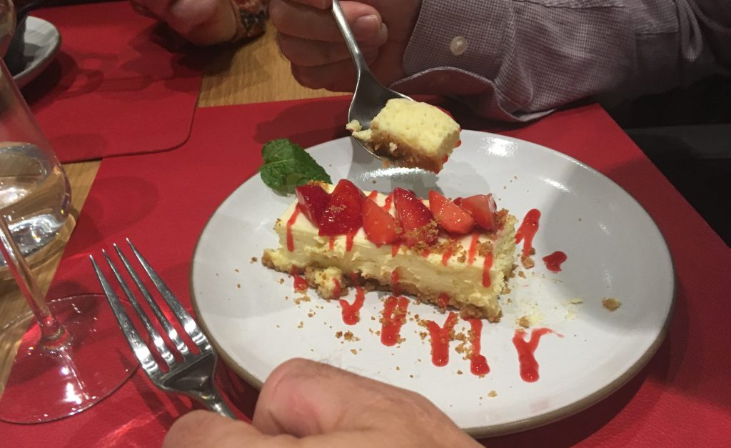 msc meraviglia butchers cut speciality restaurant cheesecake strawberries