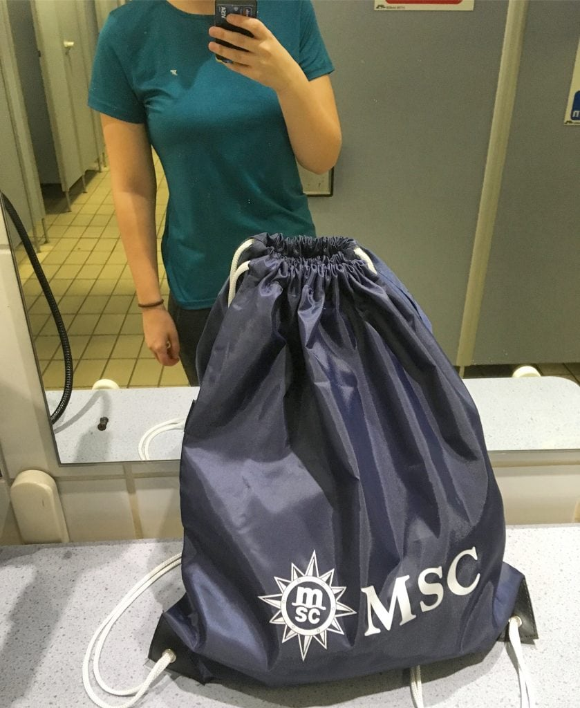 msc meraviglia voyages perk free gift bag