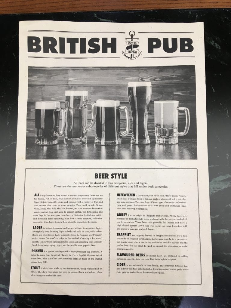 msc british pub meraviglia beer