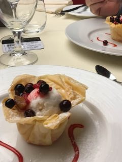 msc meraviglia food main dining room dessert
