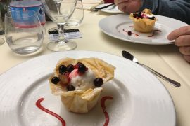 msc meraviglia food main dining room dessert