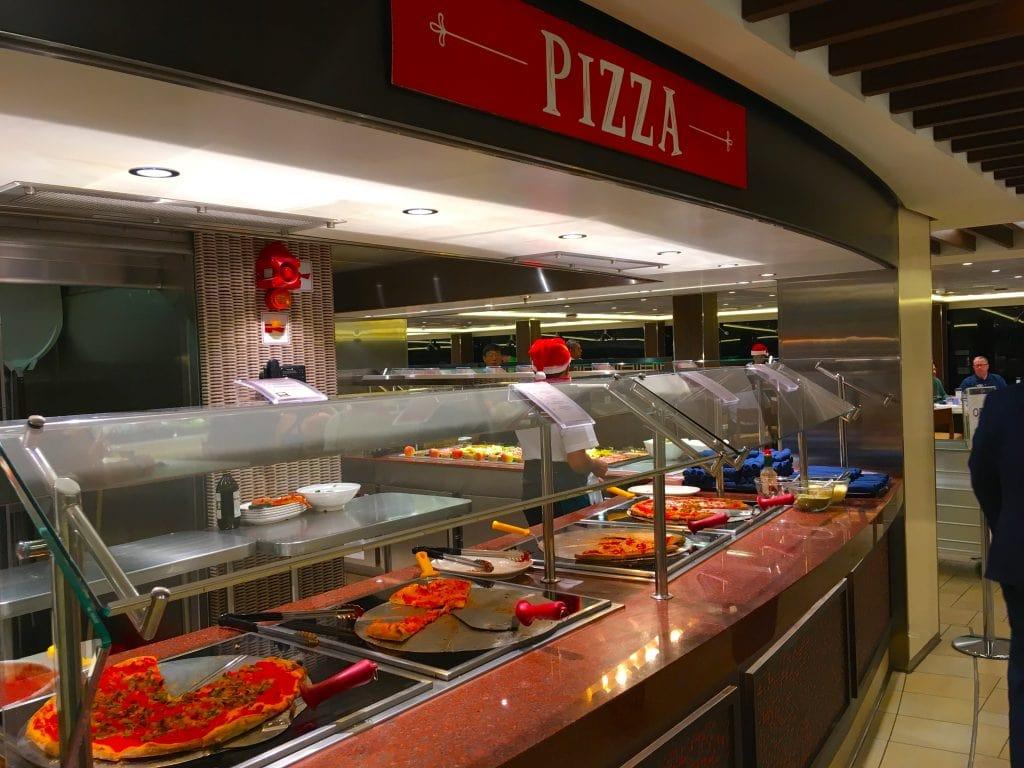 msc meraviglia food buffet pizza