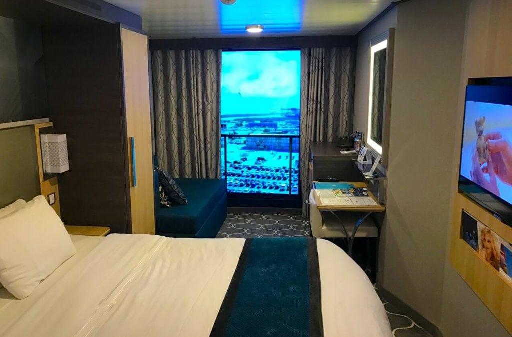 harmony of the seas inside cabin virtual balcony