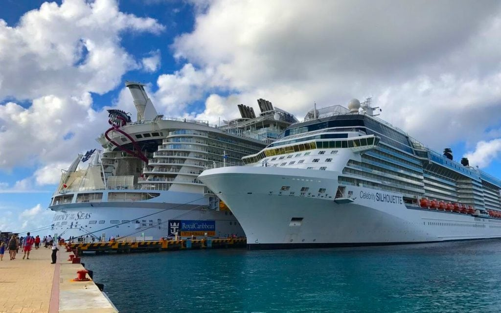harmony of the seas celebrity silhouette side by side caribbean
