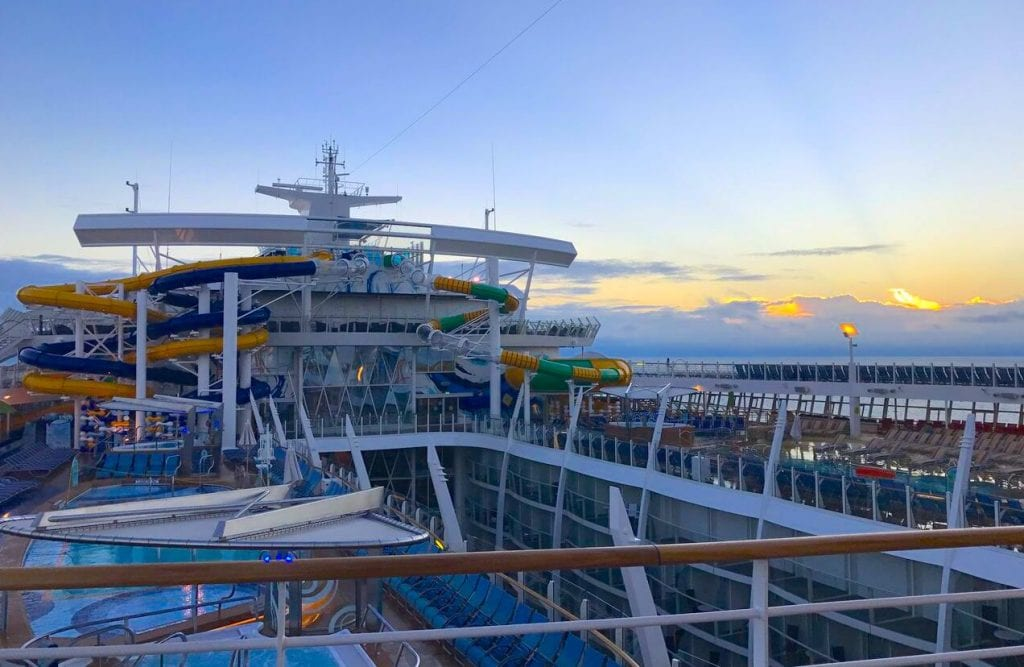 harmony of the seas watersides top deck