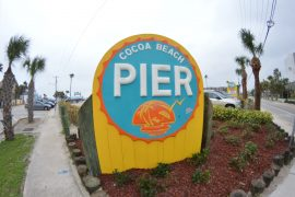 cruise pier sign cocoa beach