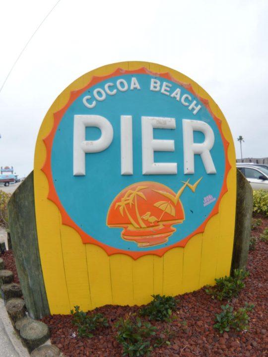 cruise pier sign cocoa beach