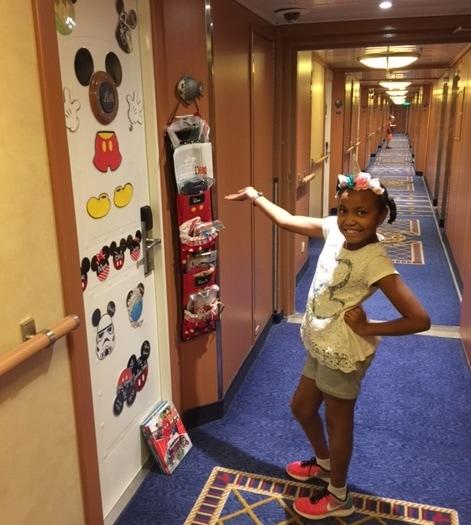 disney cruise line fish extenders door decoration corridor