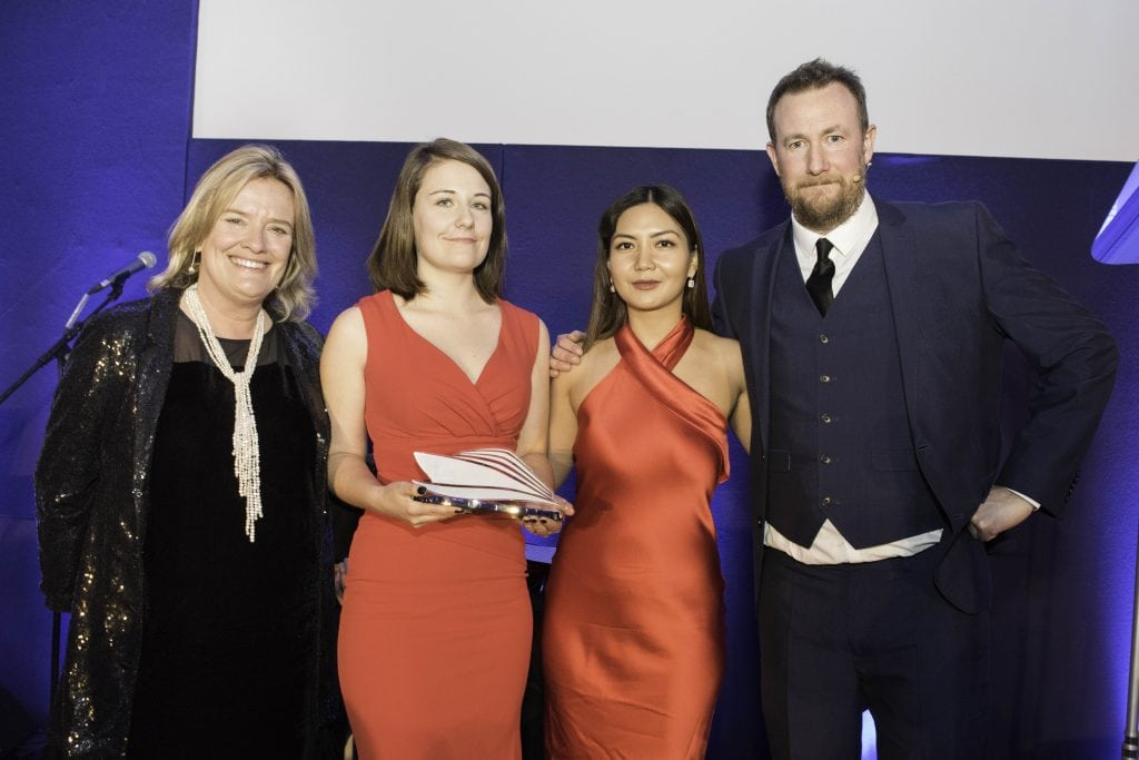 best cruise blogger emma le teace The Wave awards 2018. The Grand Connaught Rooms London emma cruises trophy