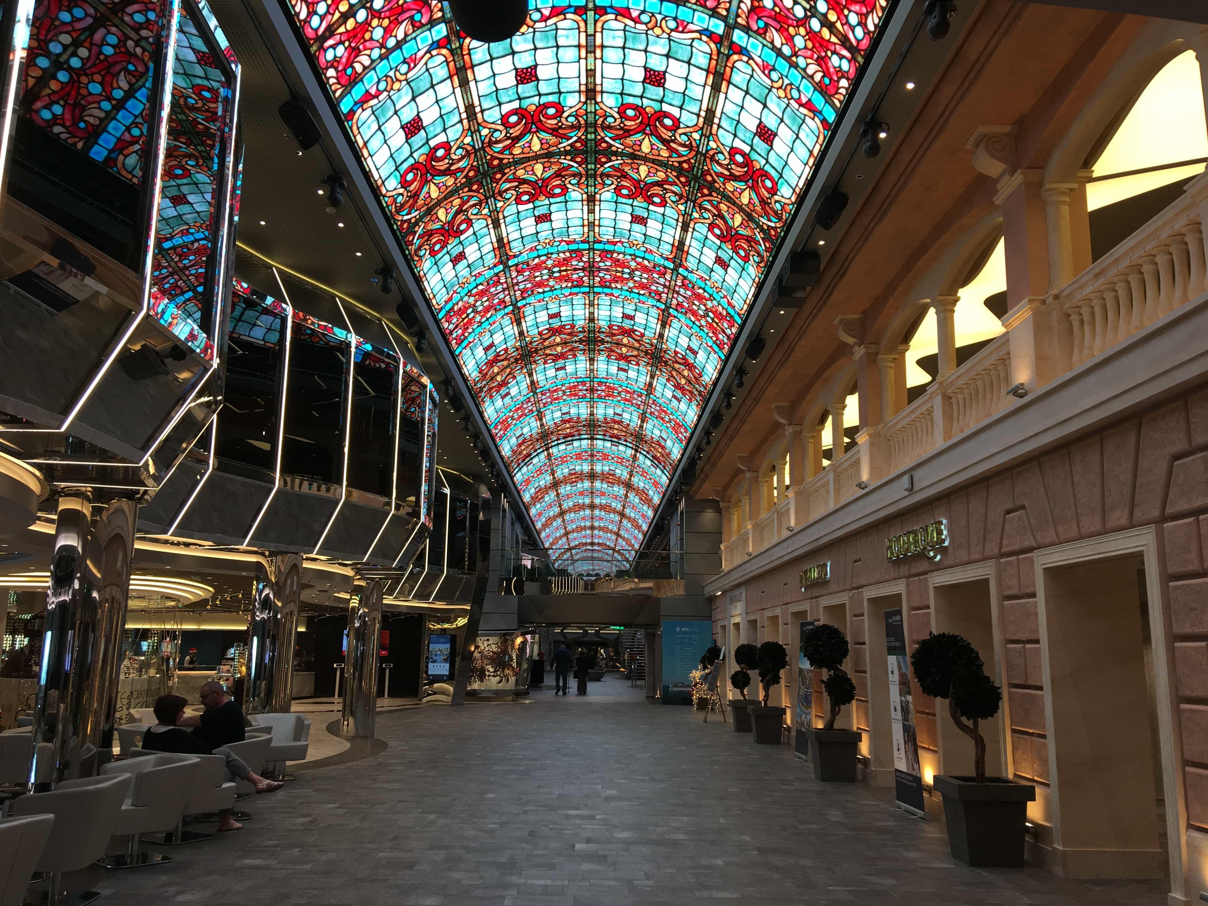 msc meraviglia LED dome