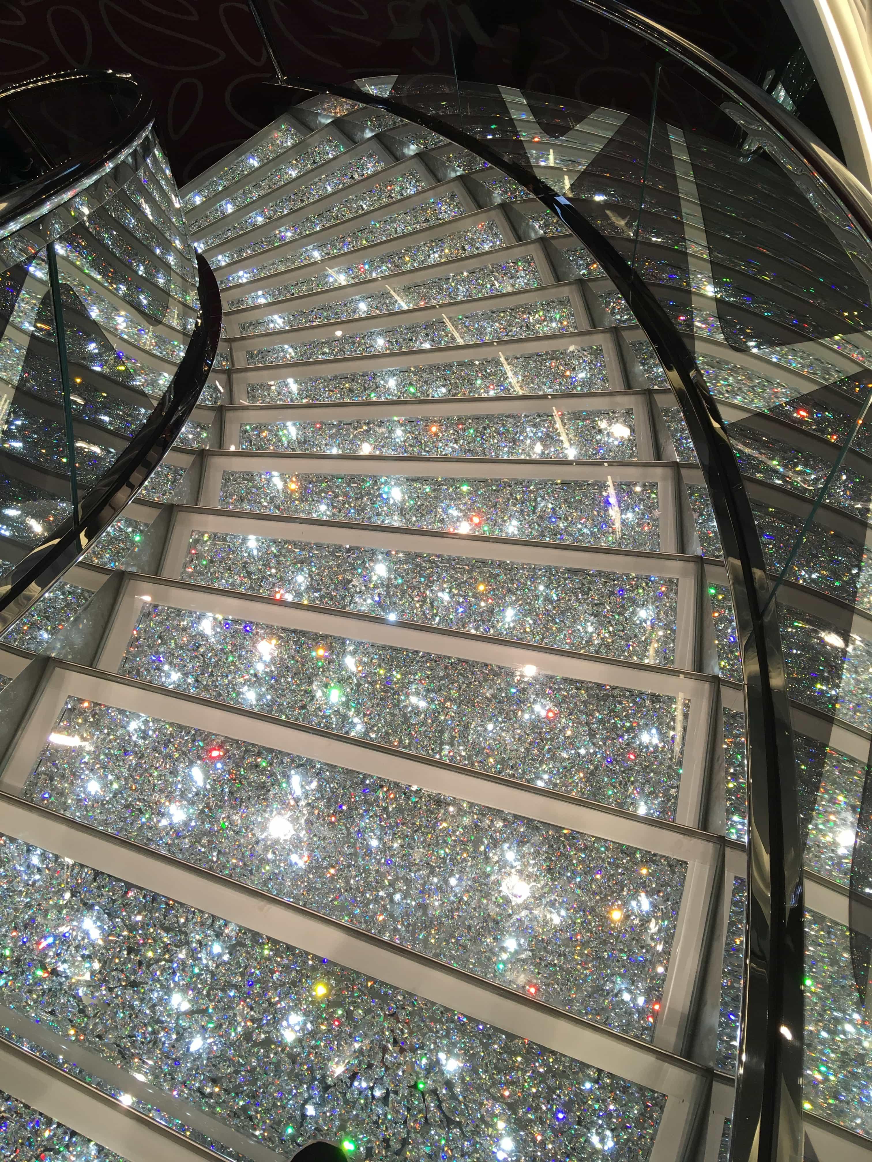 msc meraviglia staircase swarovski