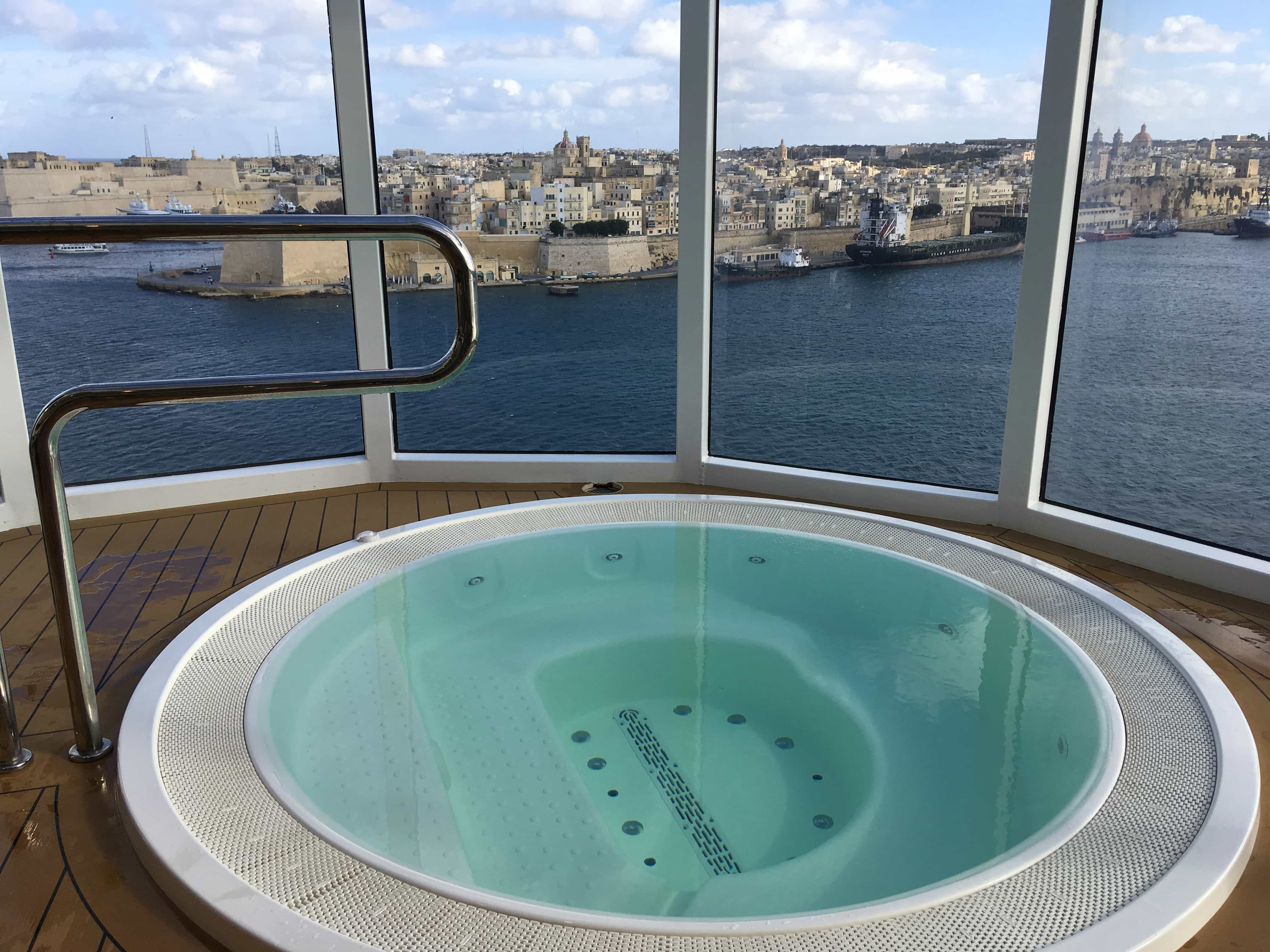 msc meraviglia view of valletta malta from the hot tub