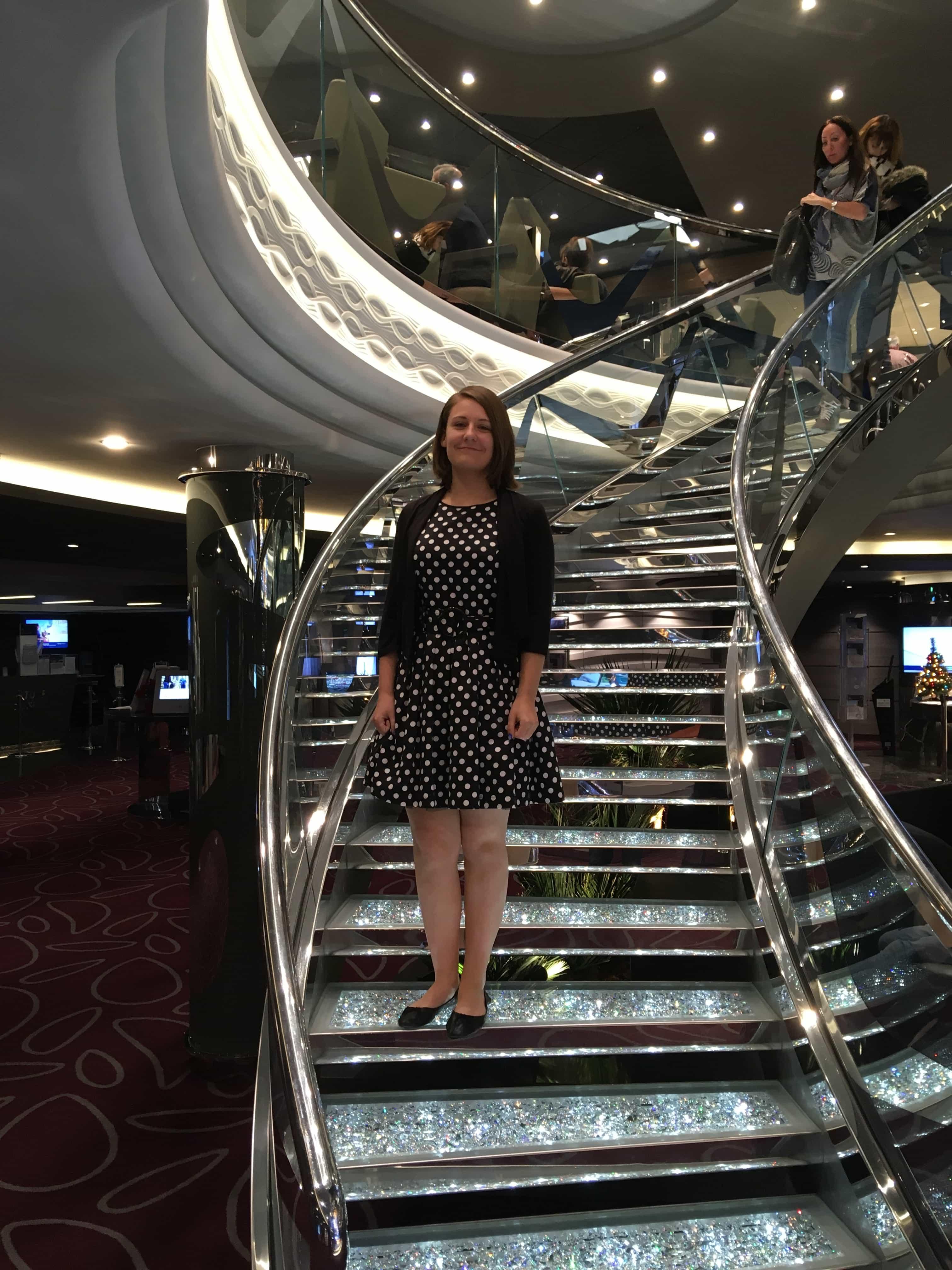 emma cruises msc meraviglia staircase swarovski
