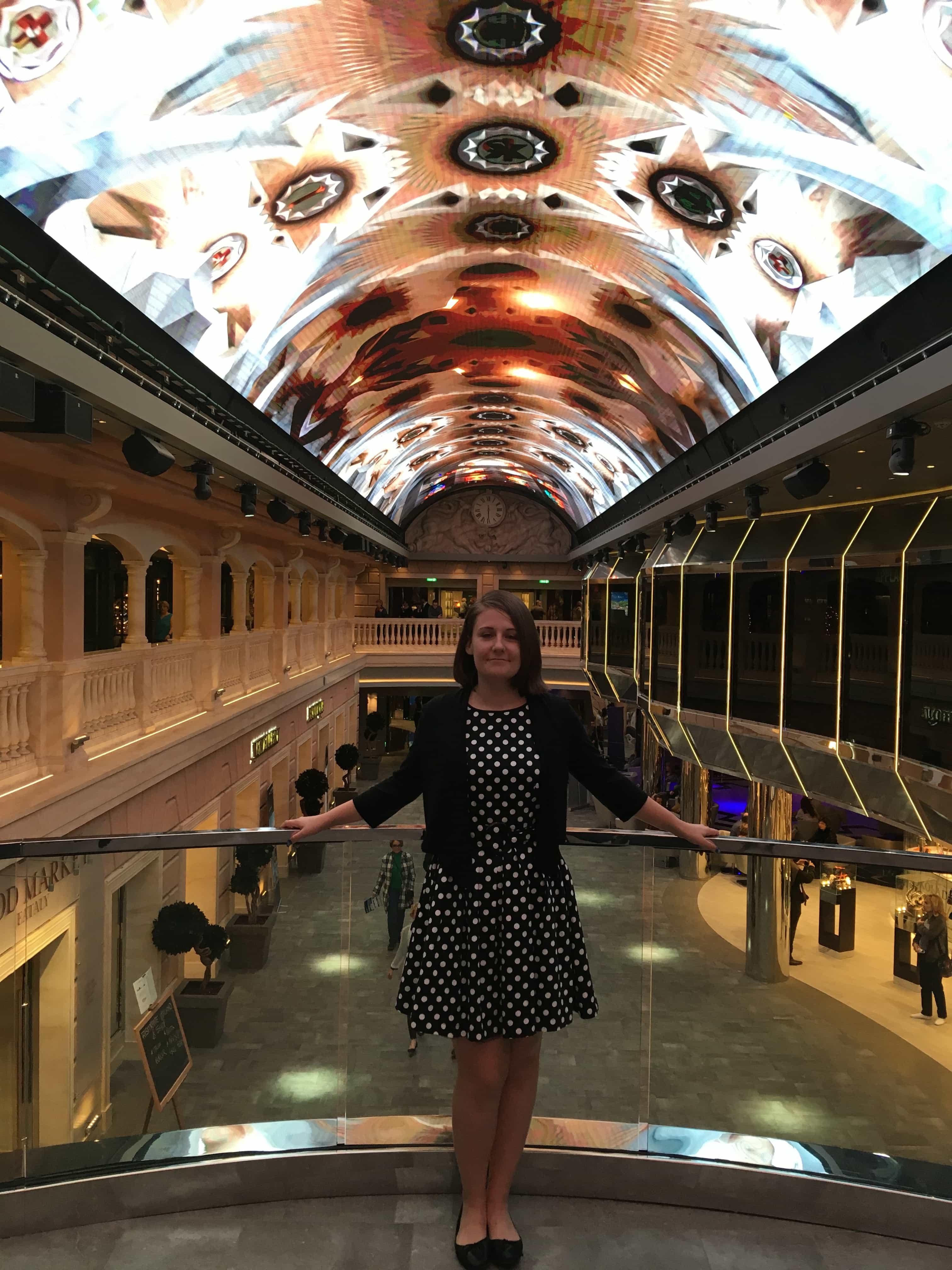 emma cruises msc meraviglia LED dome highstreet