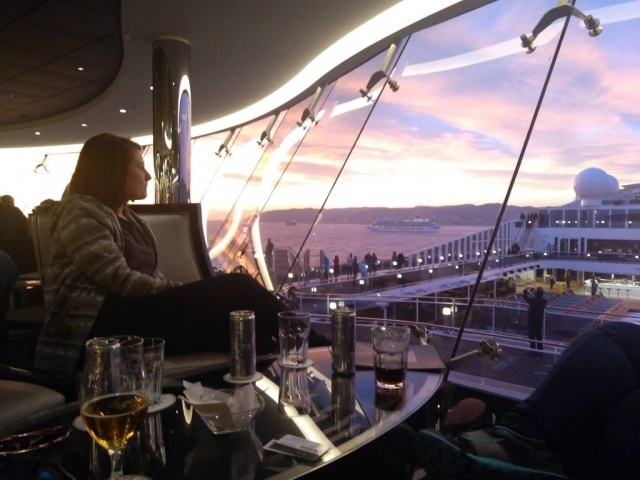 emma cruises msc meraviglia sky lounge sunset drinks pool deck