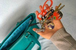 mia tui mini jen green key strap