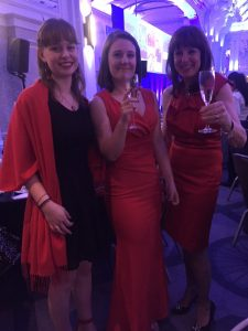 wave awards red dress grand connaught rooms london emma cruises