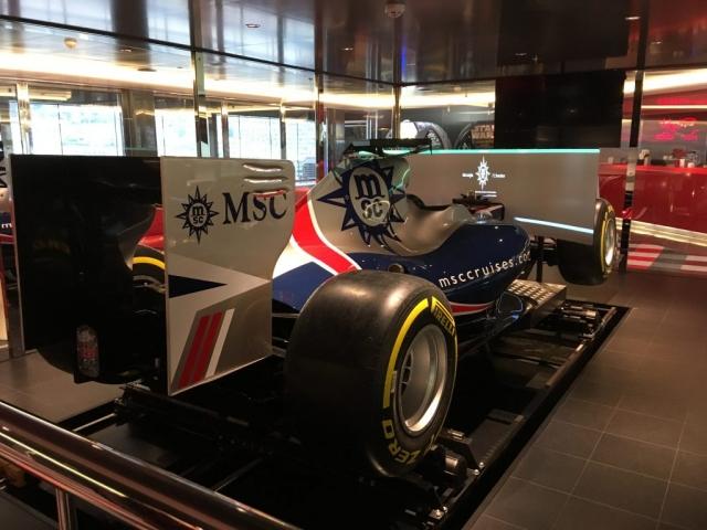 msc meraviglia F1 simulator