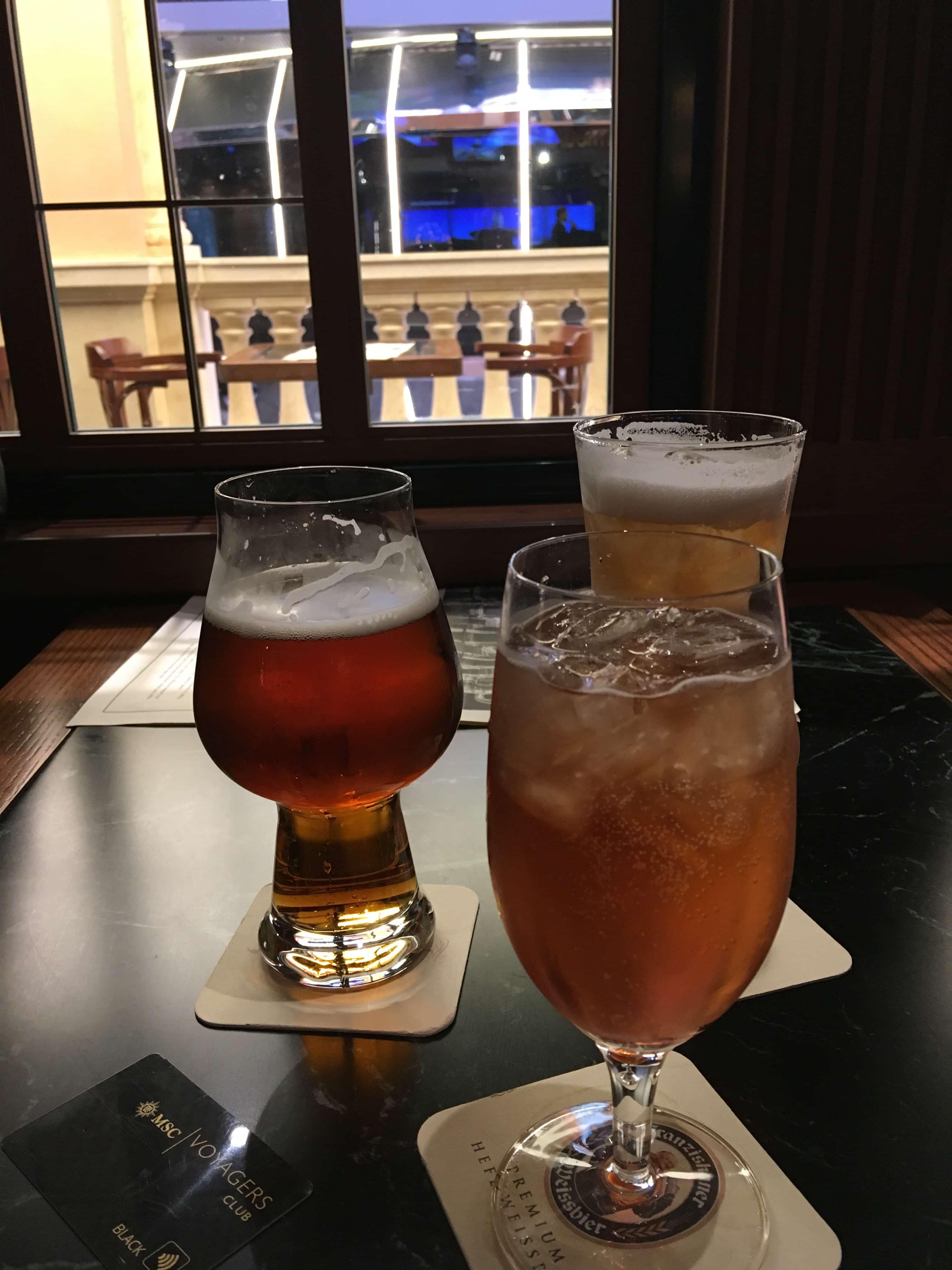 msc meraviglia pub drinks beer cocktails beertails