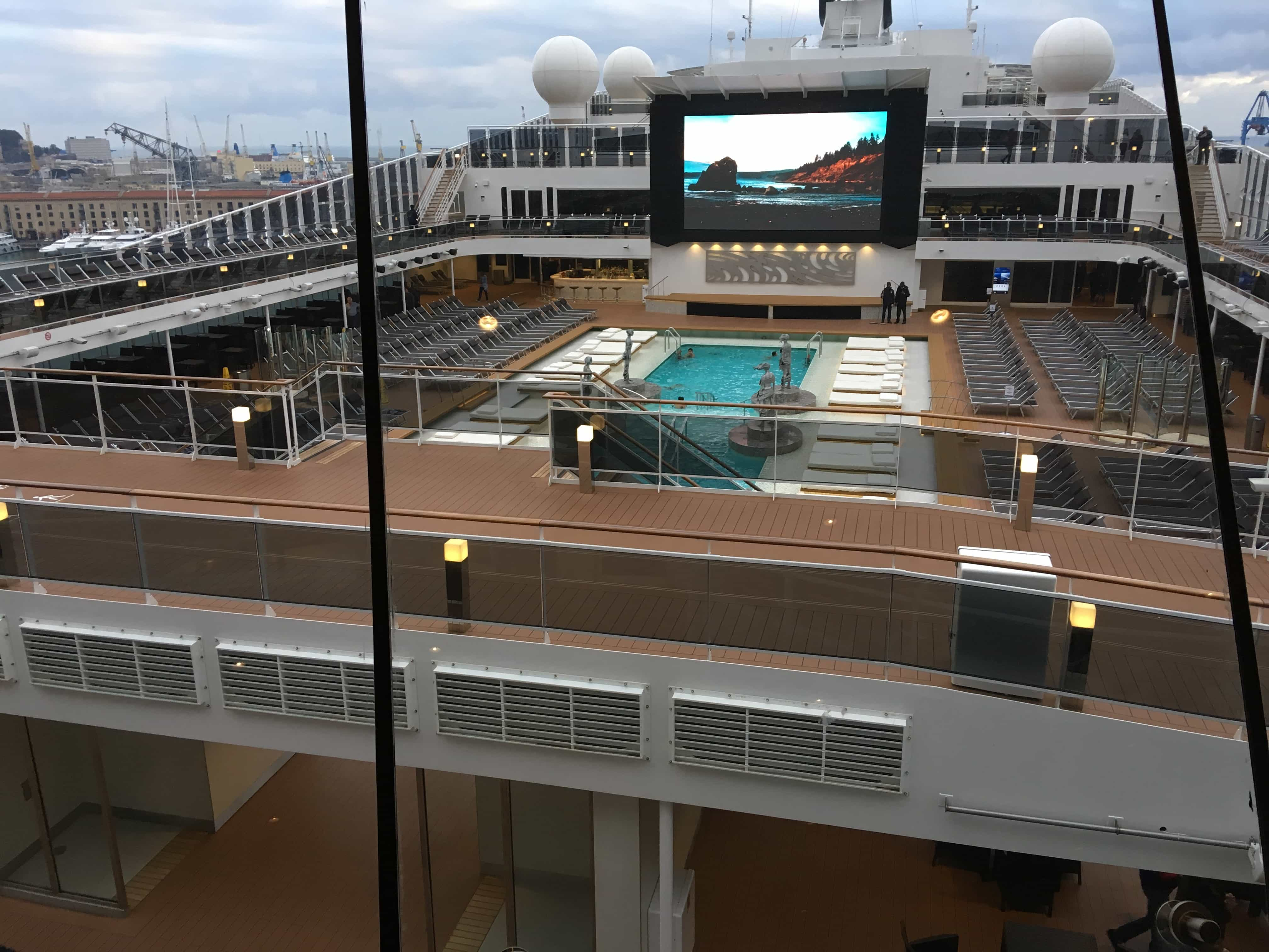 msc meraviglia top deck view from the sky lounge
