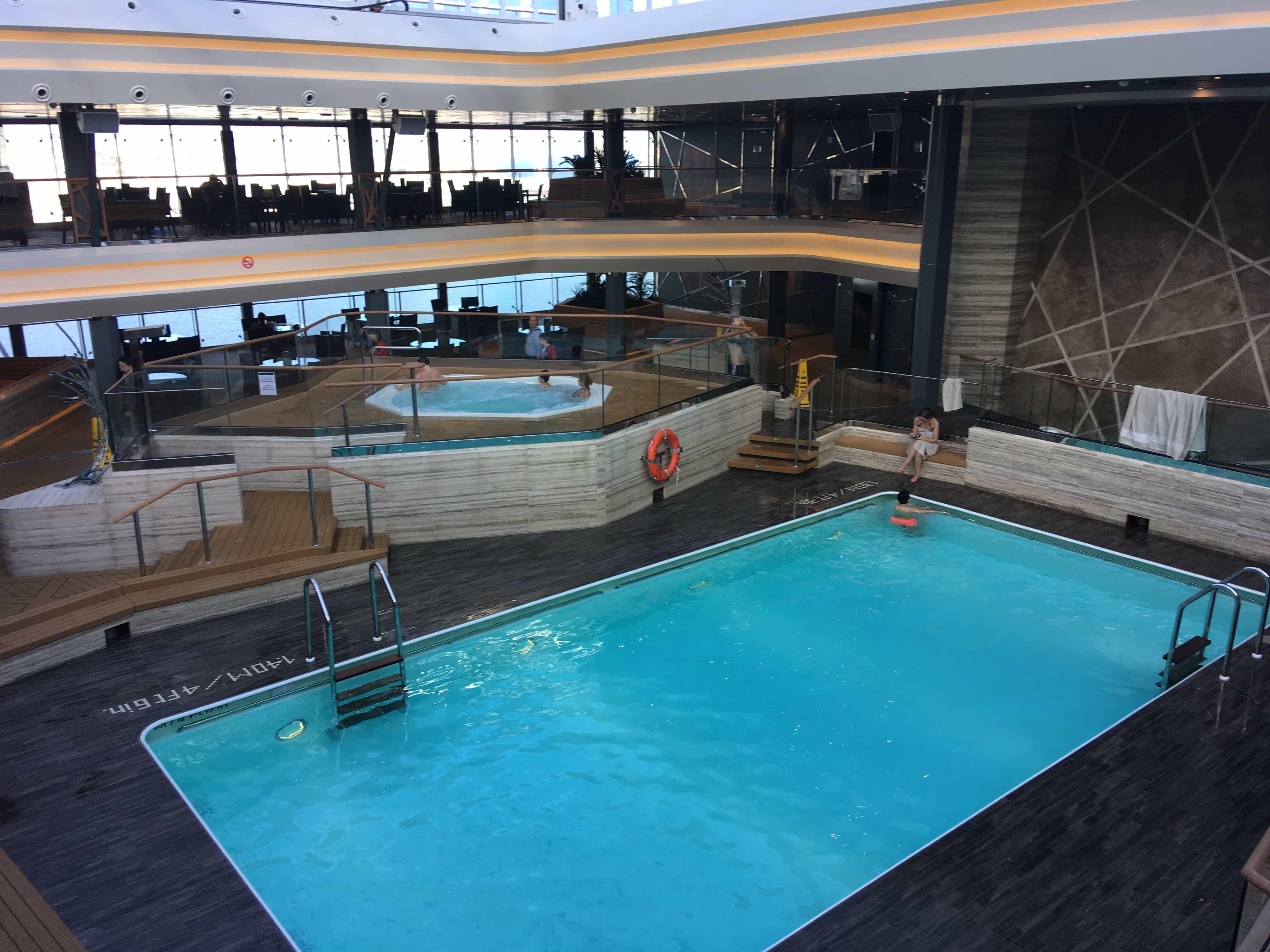 msc meraviglia inside pool solarium