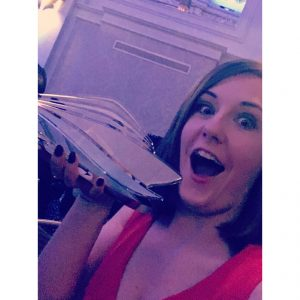 wave awards best cruise blogger emma le teace cruises trophy
