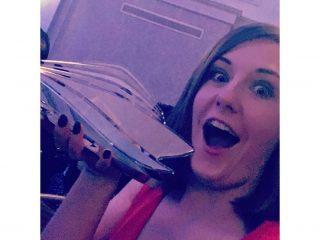 wave awards best cruise blogger emma le teace cruises trophy