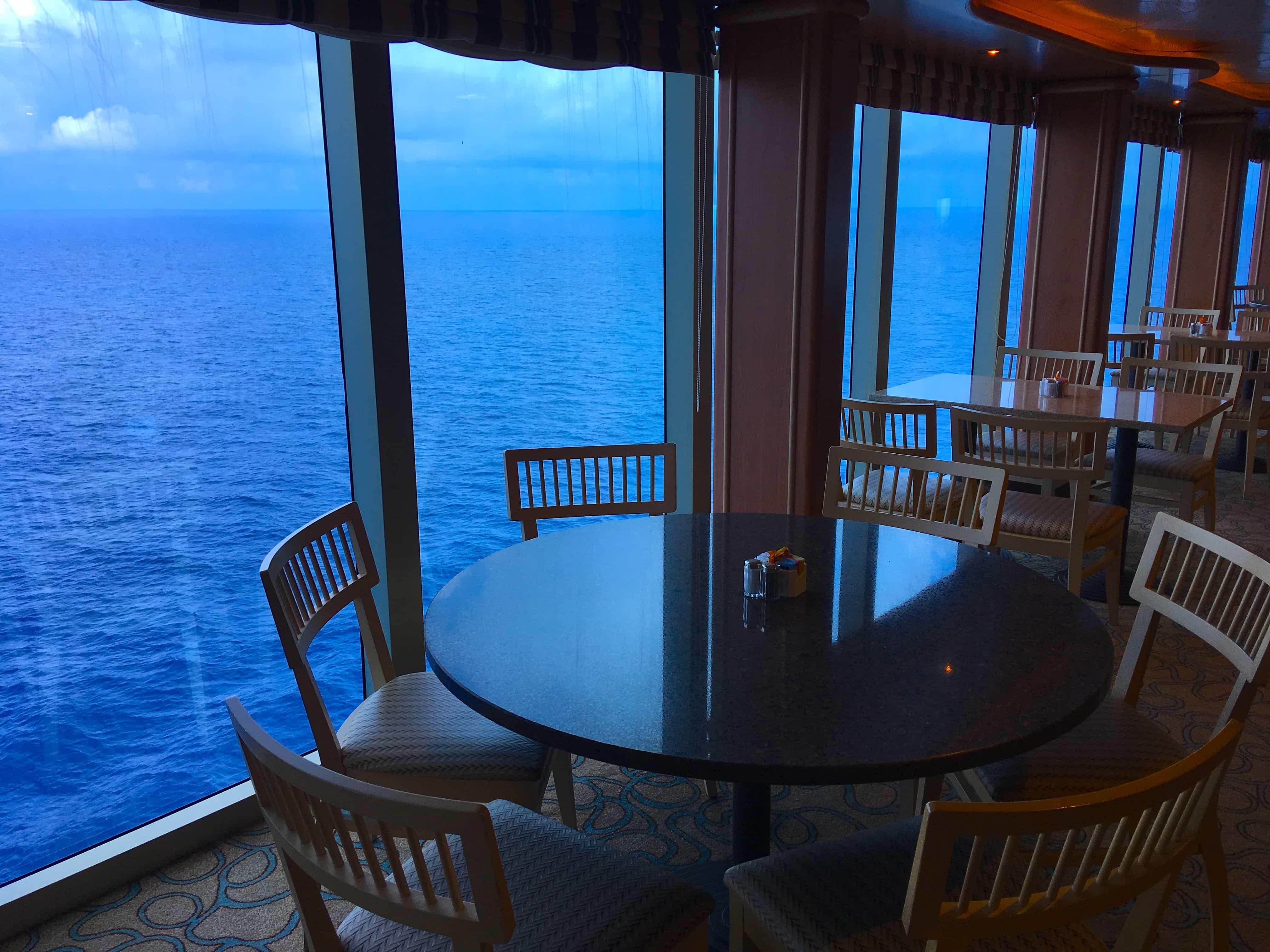 buffett golden princess table ocean view cruise ship