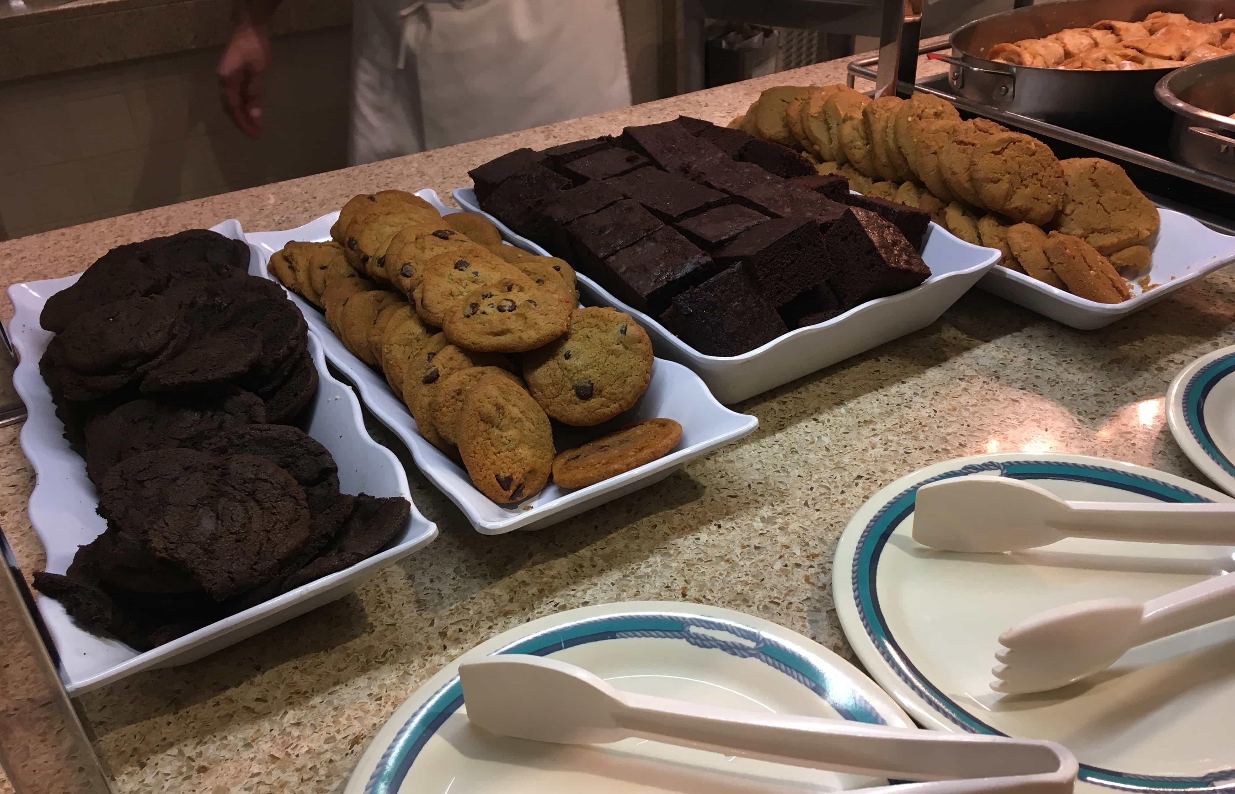 golden princess cookies buffet cruise ship