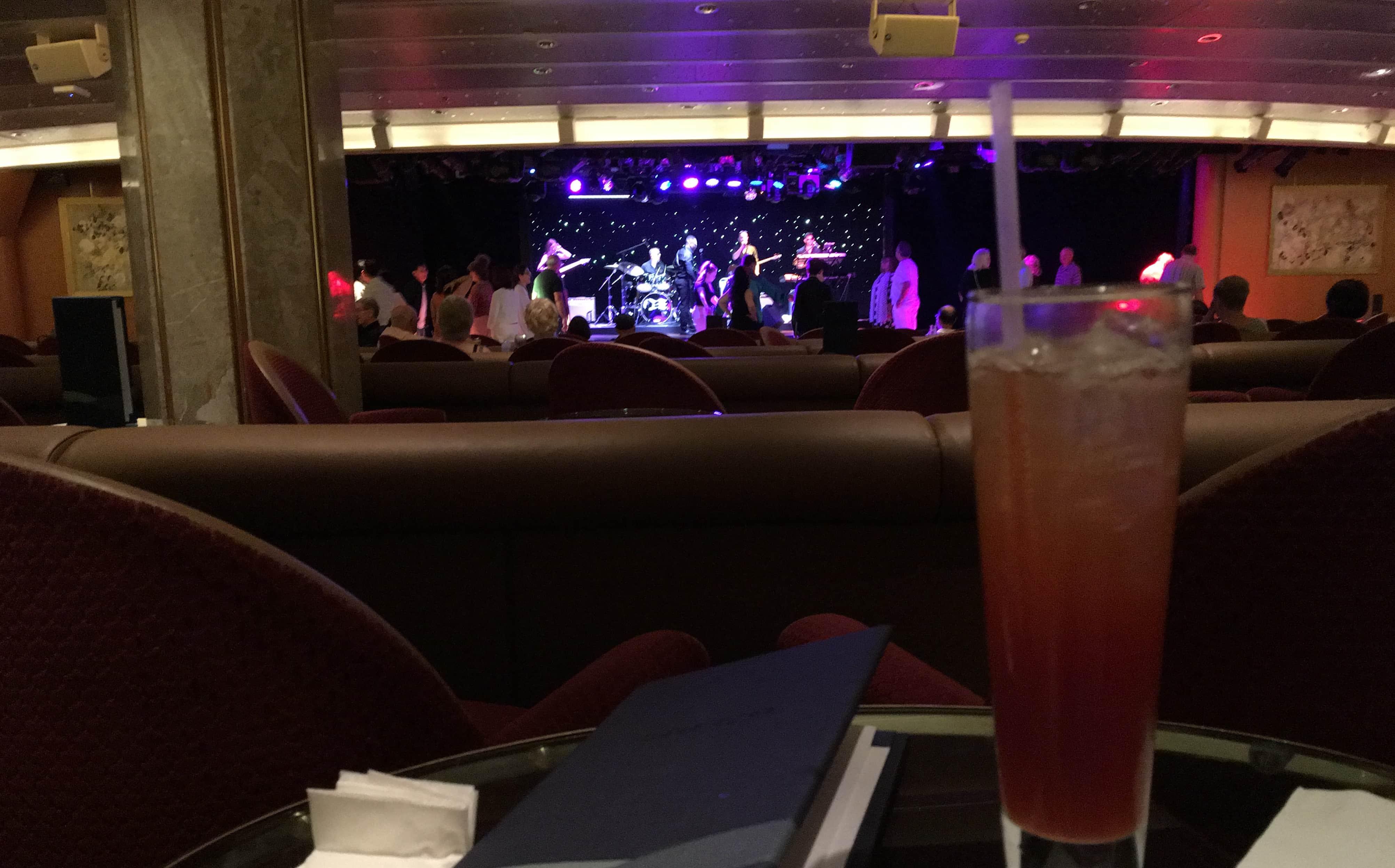 mocktail golden princess 70s disco cruise ship