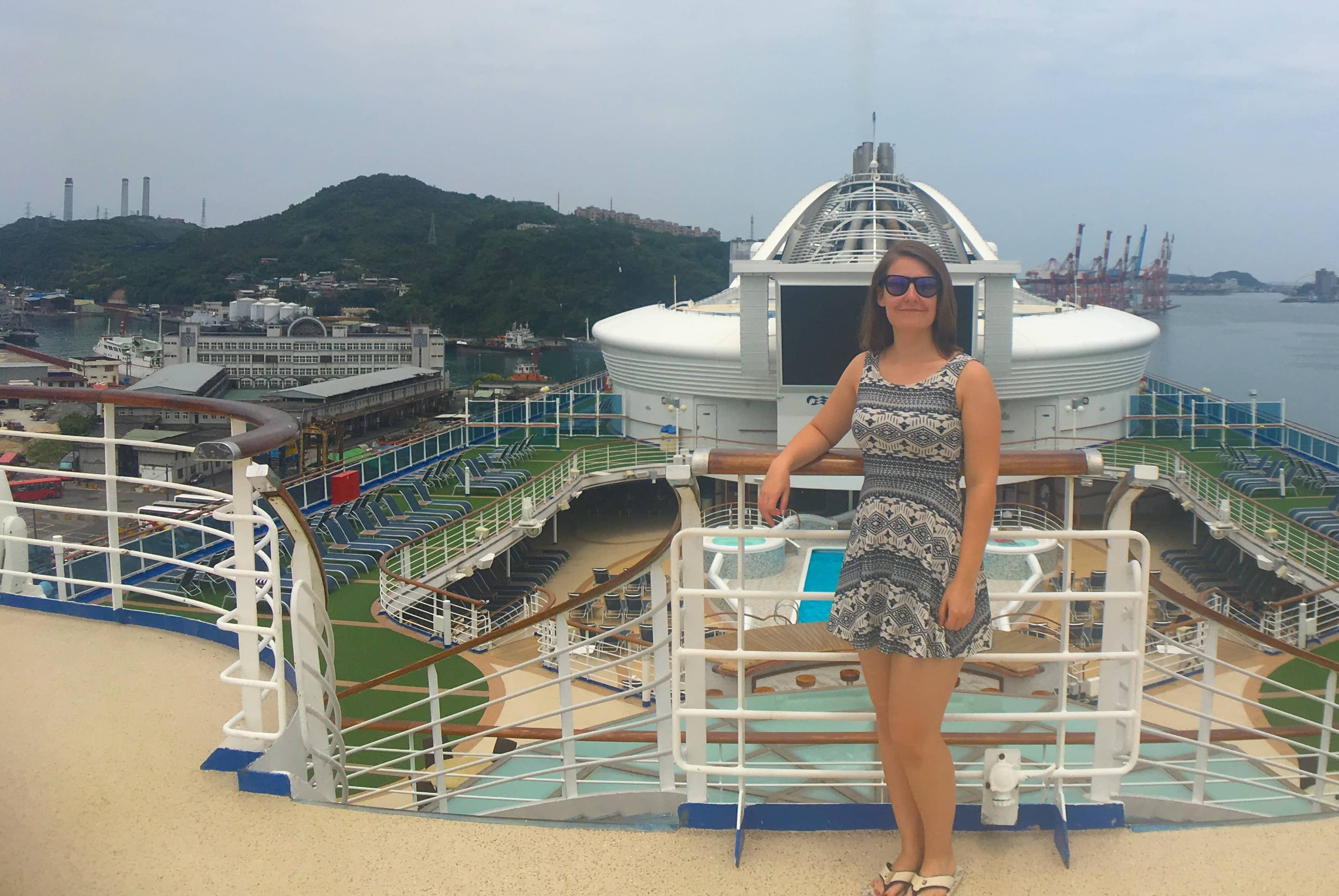 golden princess emma cruises top deck
