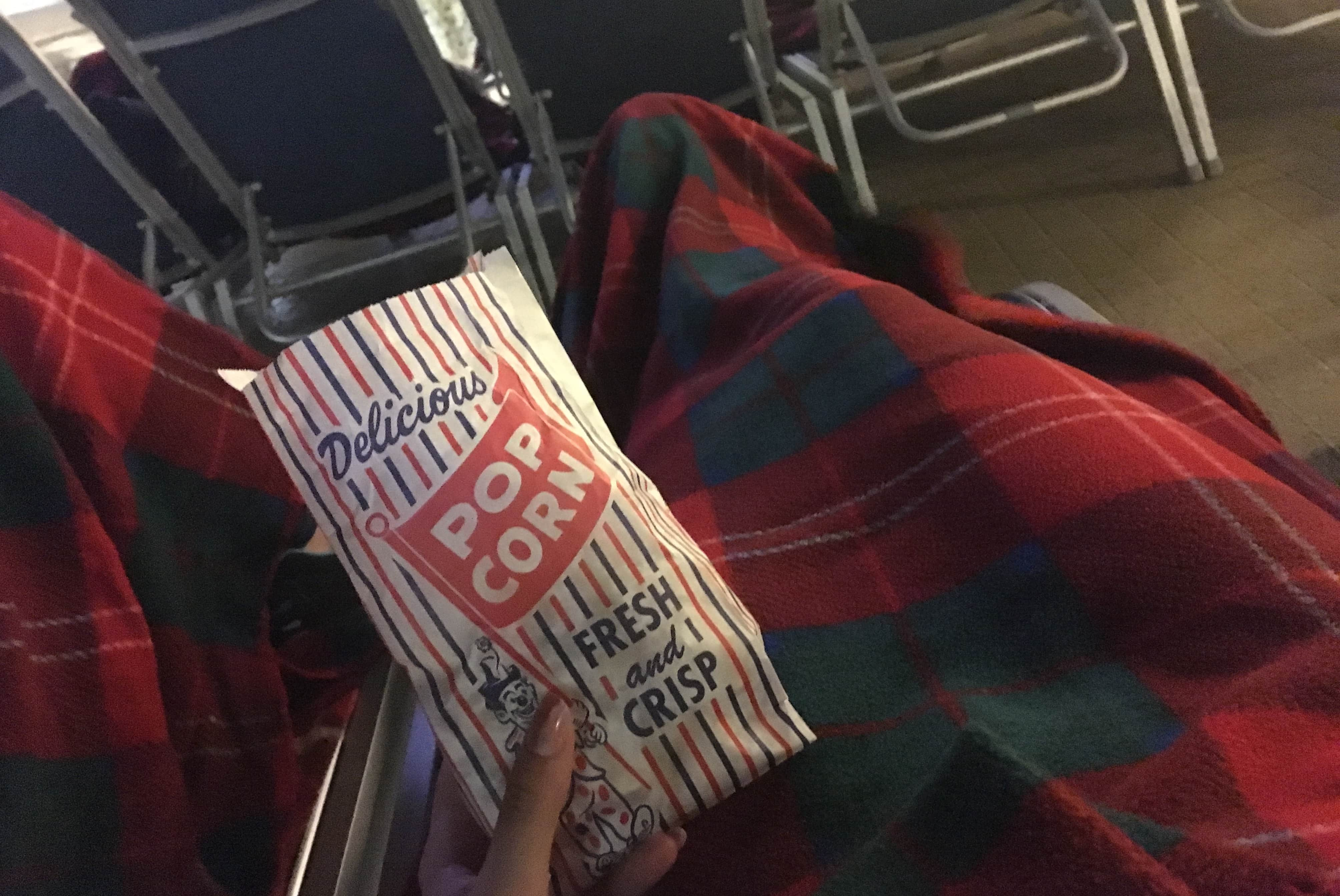 golden princess movies under the stars popcorn and blanket