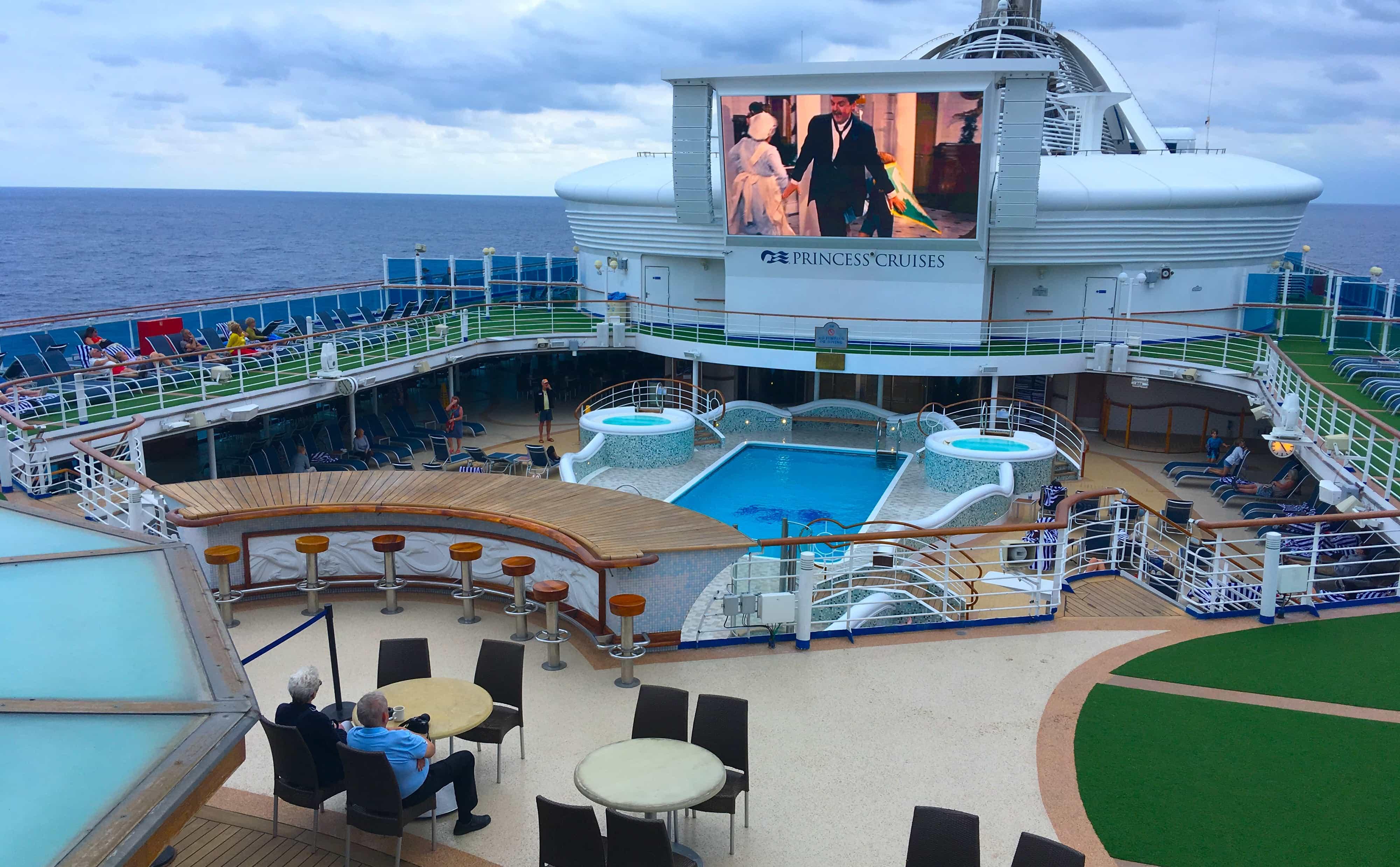golden princess top deck swimming pools movies under the stars saving mr banks