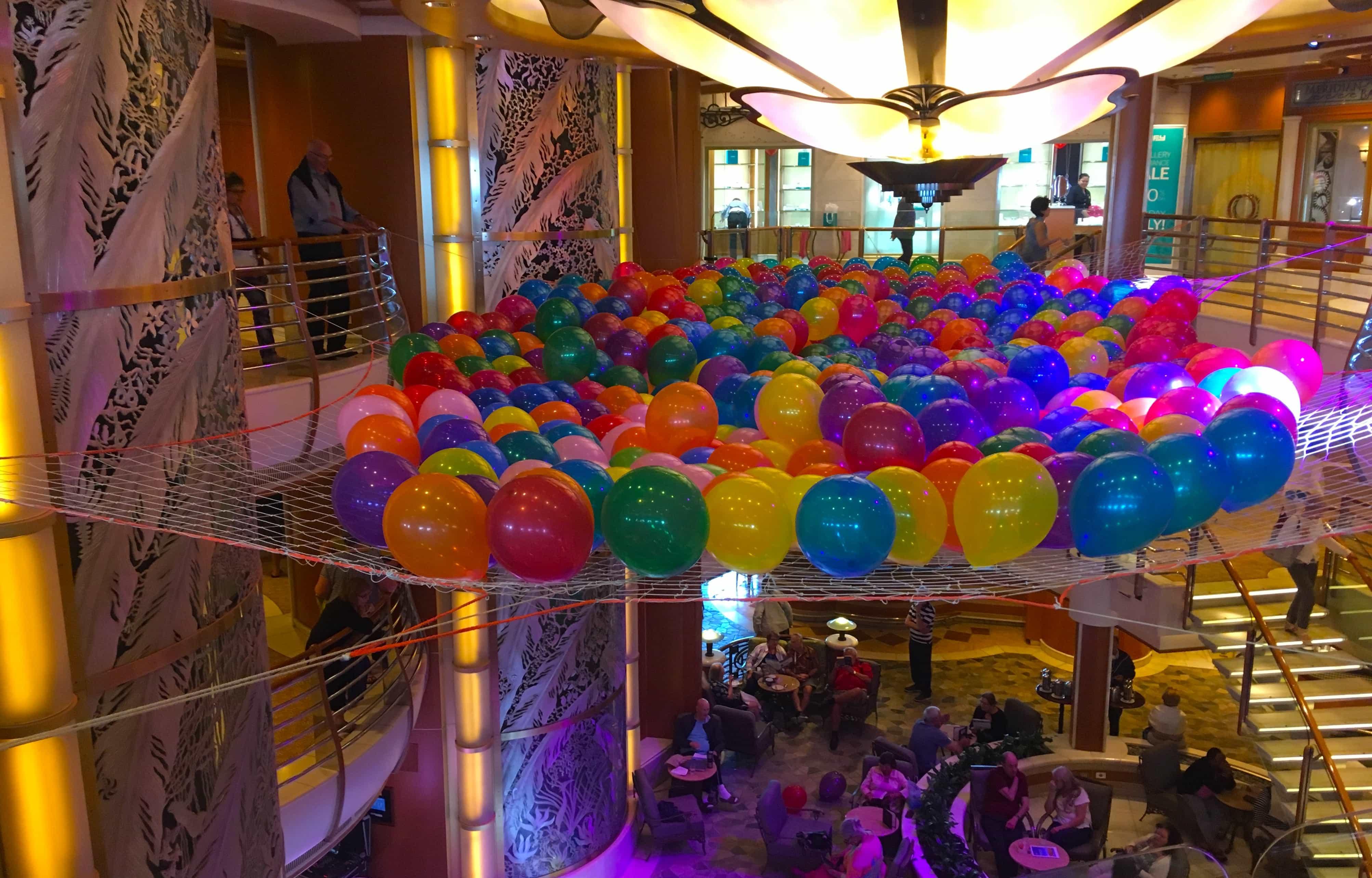golden princess balloon drop balloons atrium
