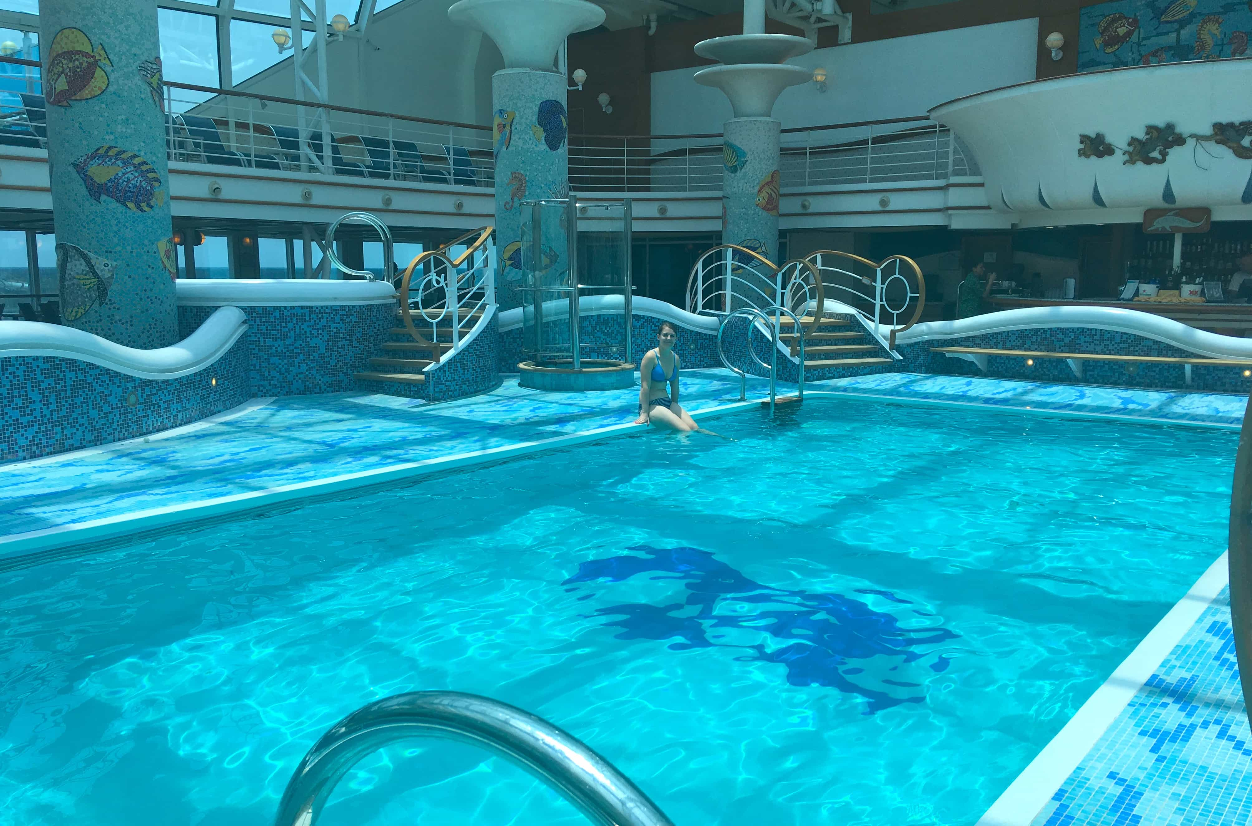 Golden Princess Inside Indoor Conservatory Pool
