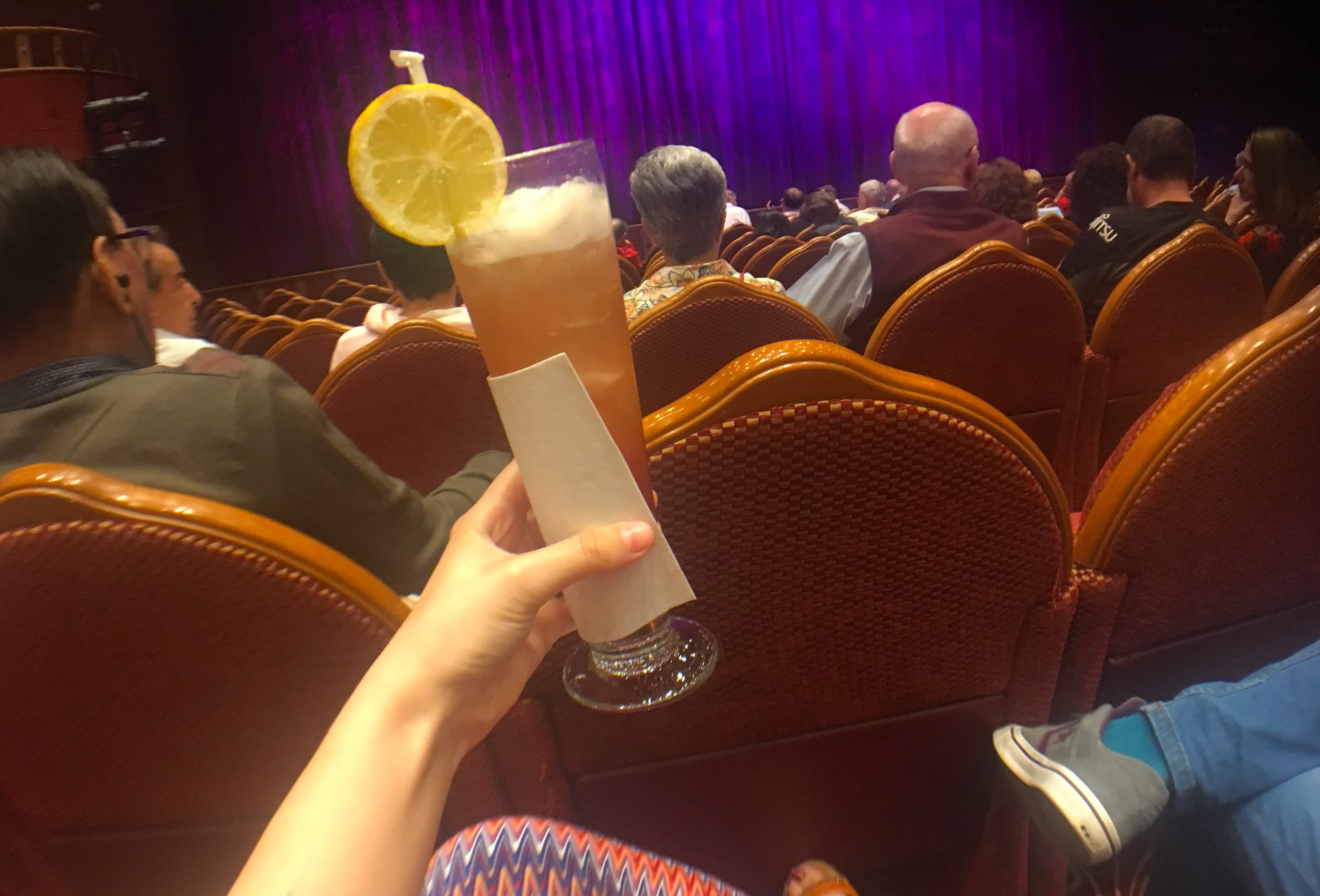 Golden princess theatre cocktail drink mocktail show