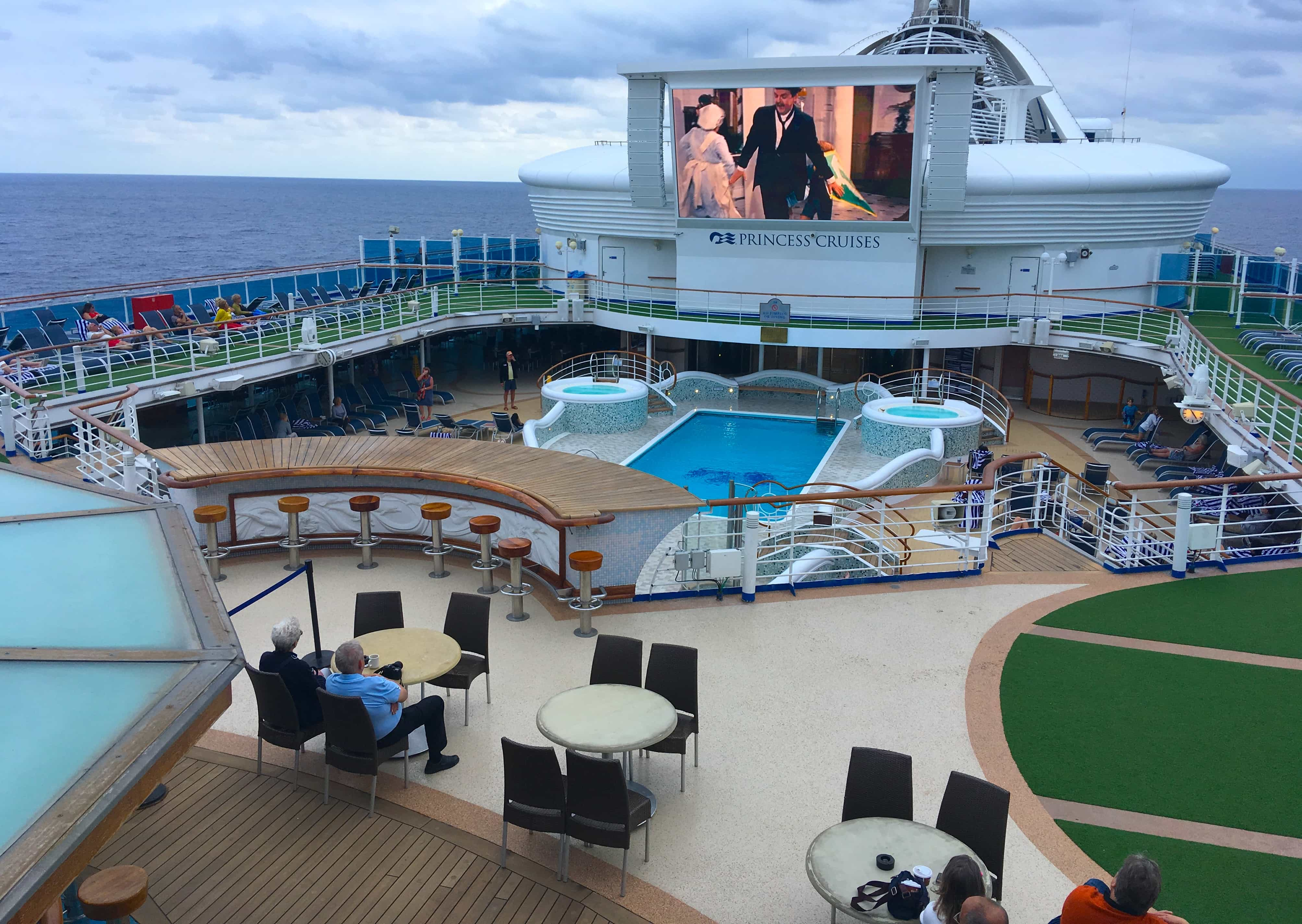 Golden Princess Outside Pool Top Deck Cruise Ship Bar
