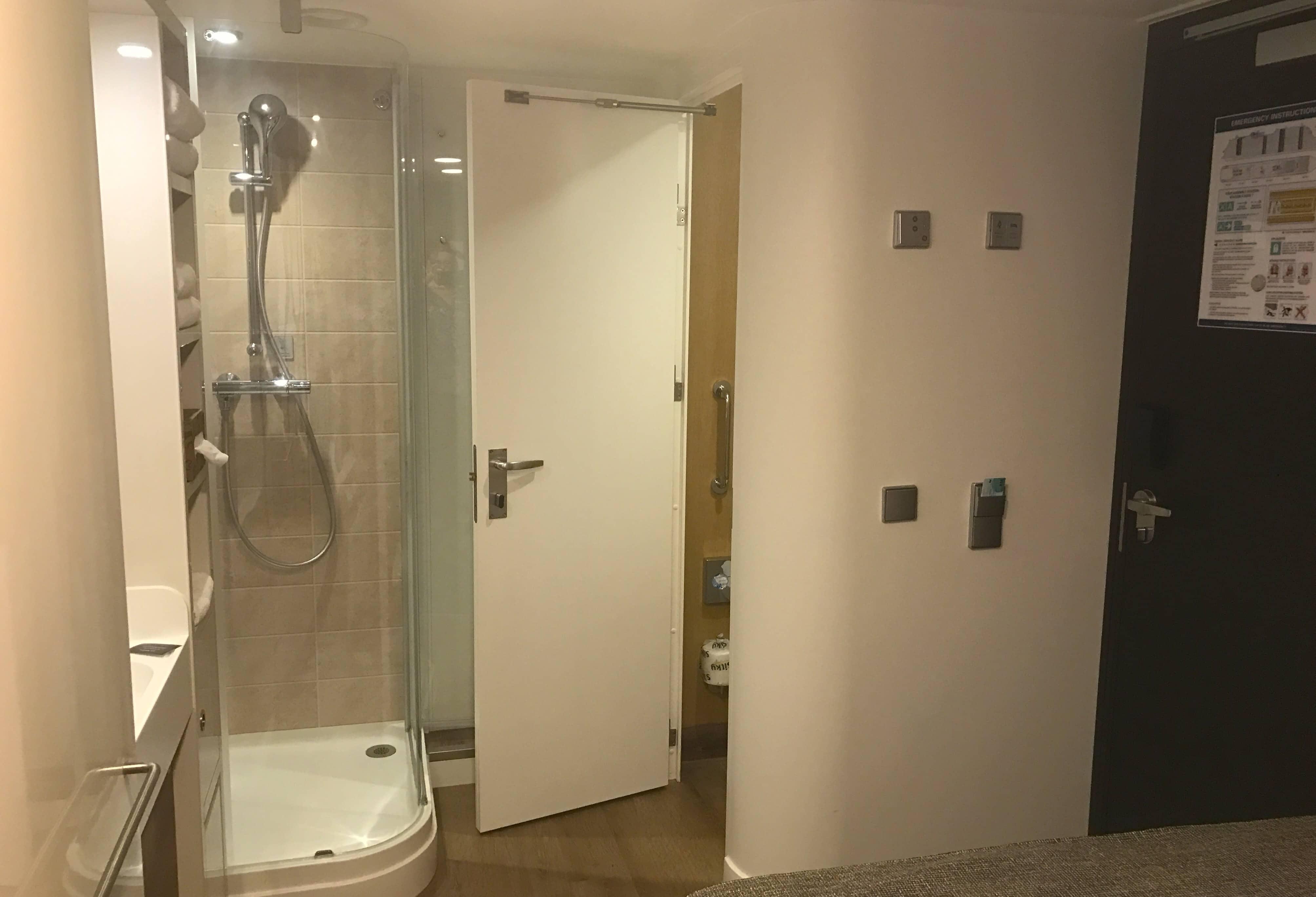 norwegian bliss solo cabin bathroom shower toilet