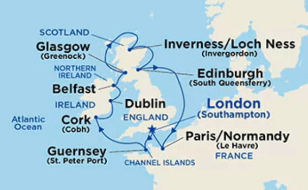 british isles princess itinerary dublin overnight