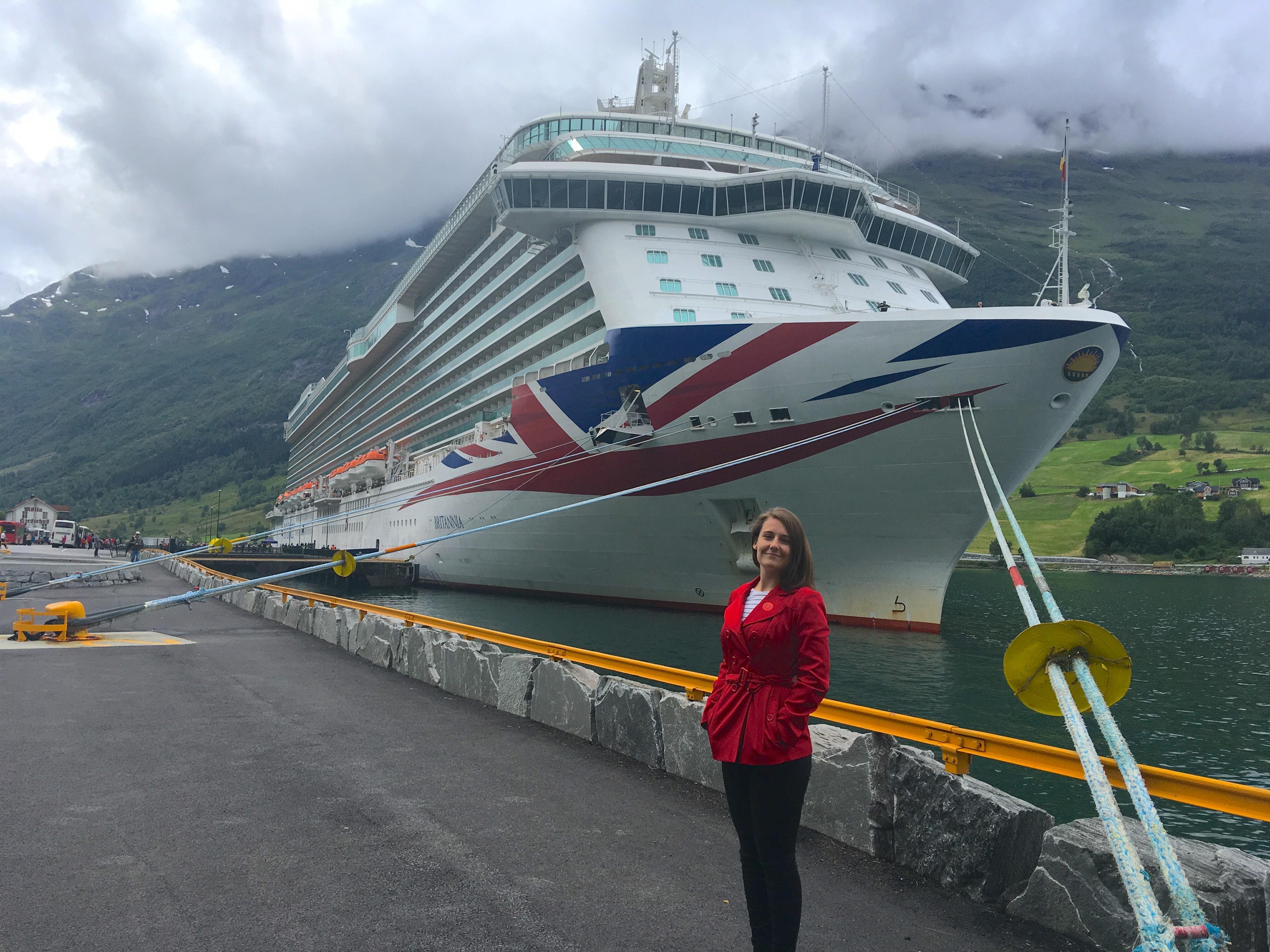 p&o britannia cruise ship norwegian fjords norway