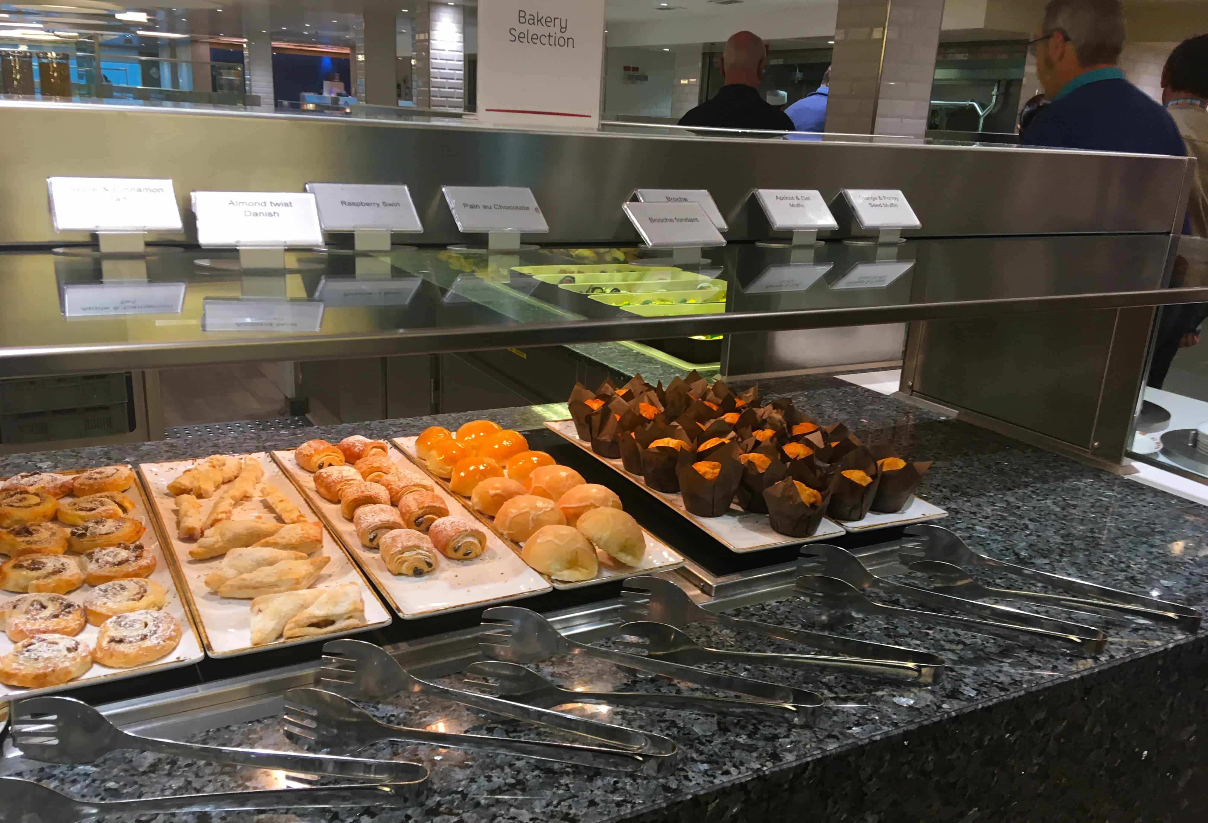 p&o britannia buffet bakery iced buns muffins
