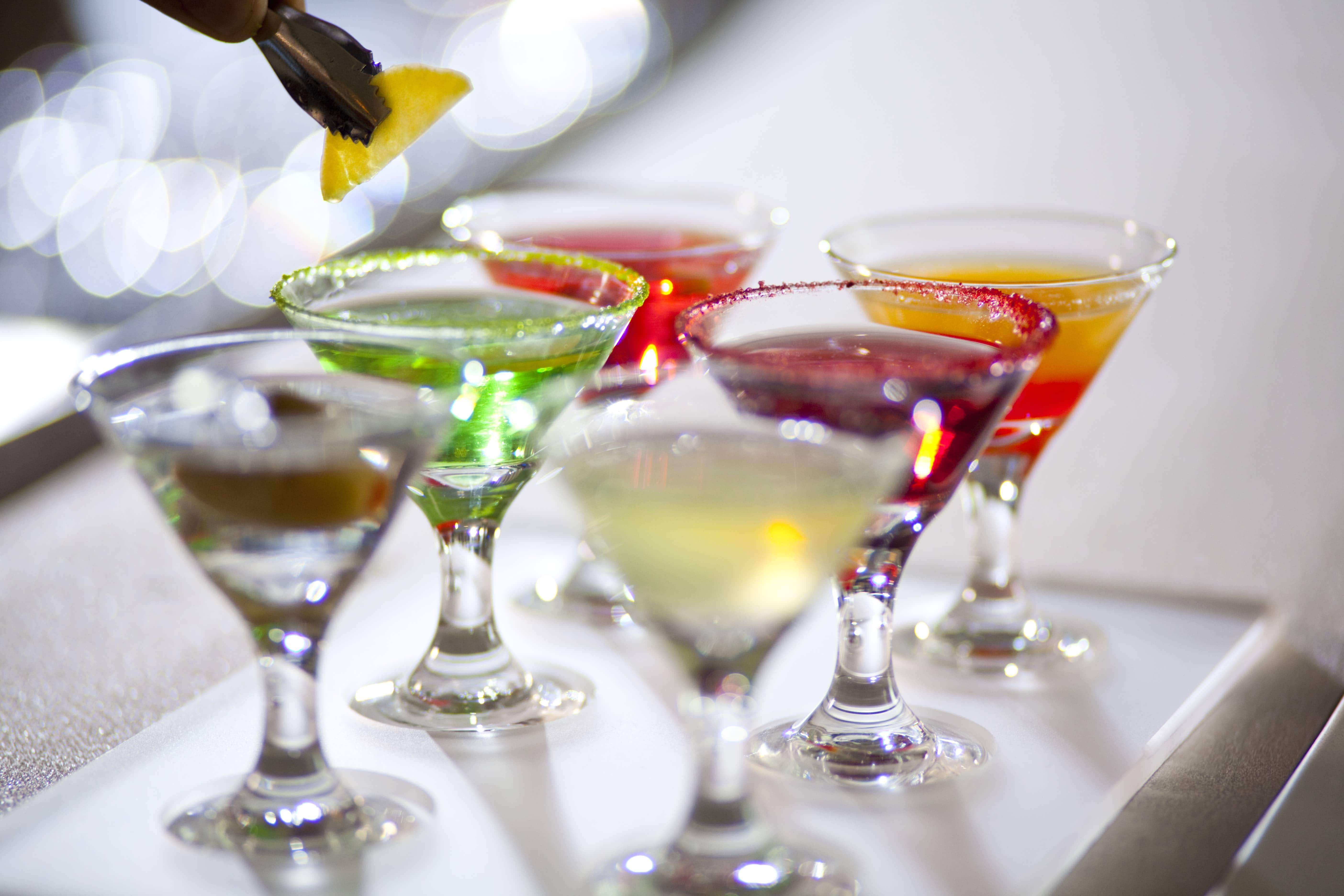 Celebrity Cruises class drinks package, SI, Silhouette, Solstice Class, drinks, martini, martinis, drink, drinks, bar, beverage tasting