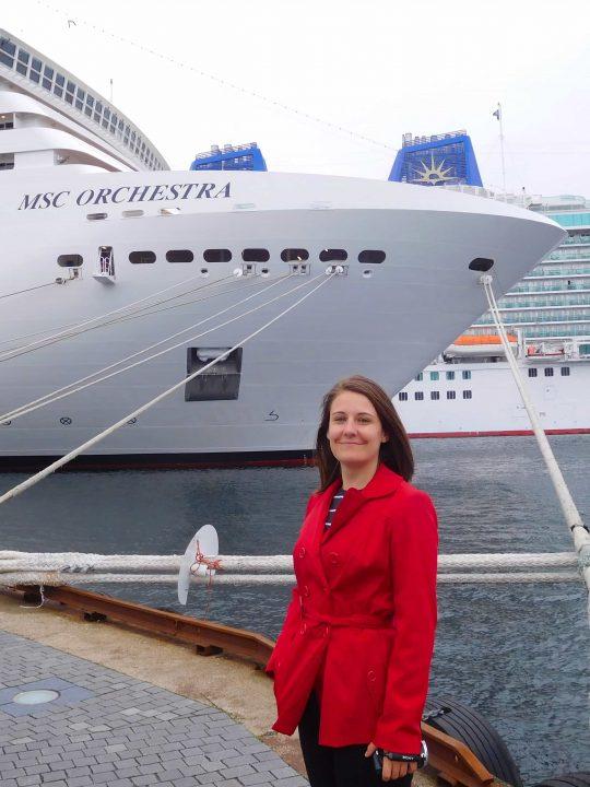 norwegian fjords norway msc orchestra p&o britannia norway cruise ships girl red coat emma cruises