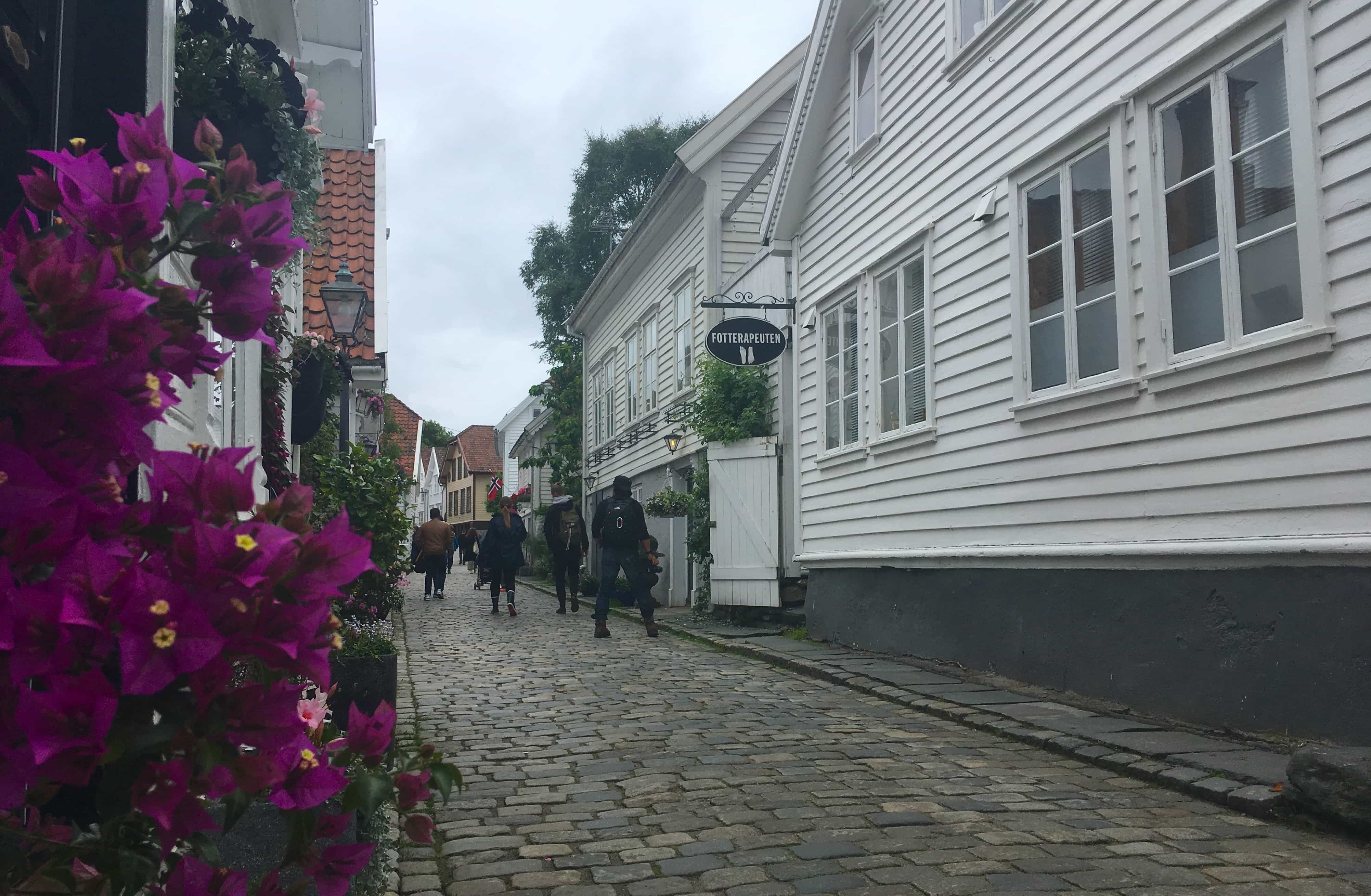 norway norwegian fjords cobbled streets old town bergen