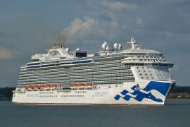 Hythe Marina Village southampton cruise ship royal princess