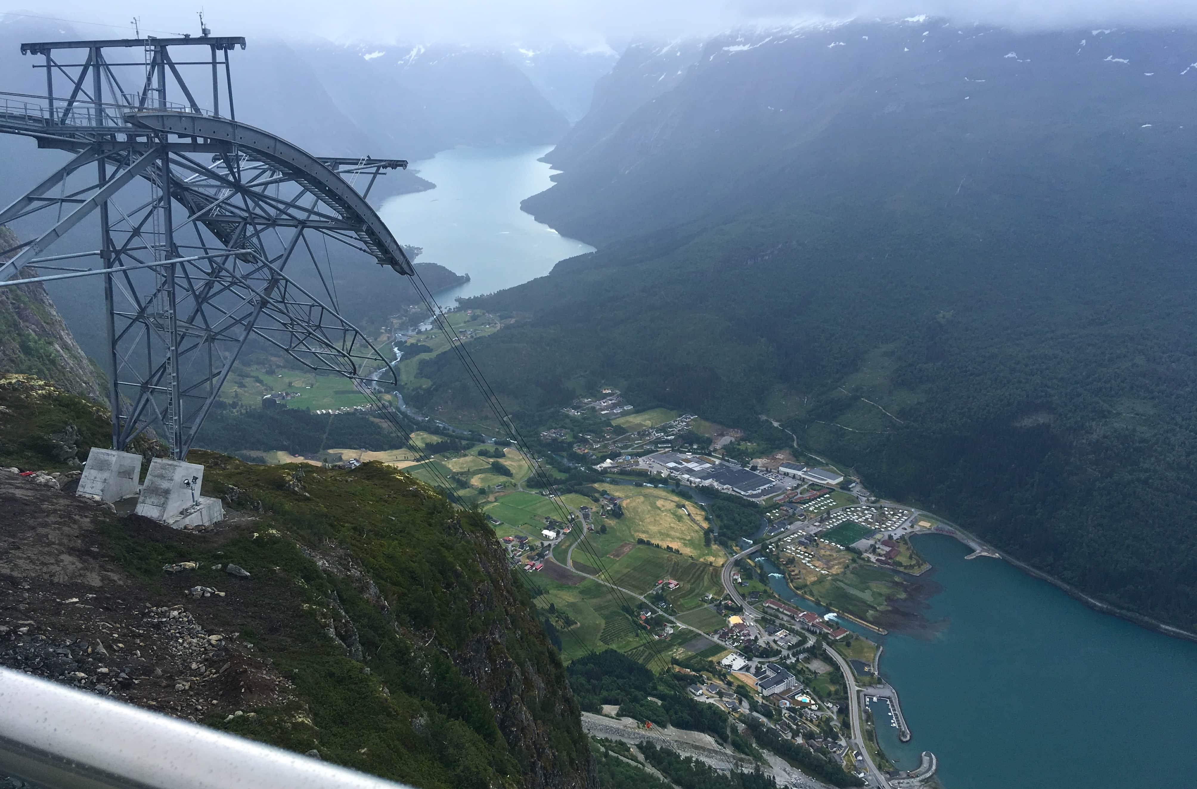 norwegian fjords norway cruise loen skylift