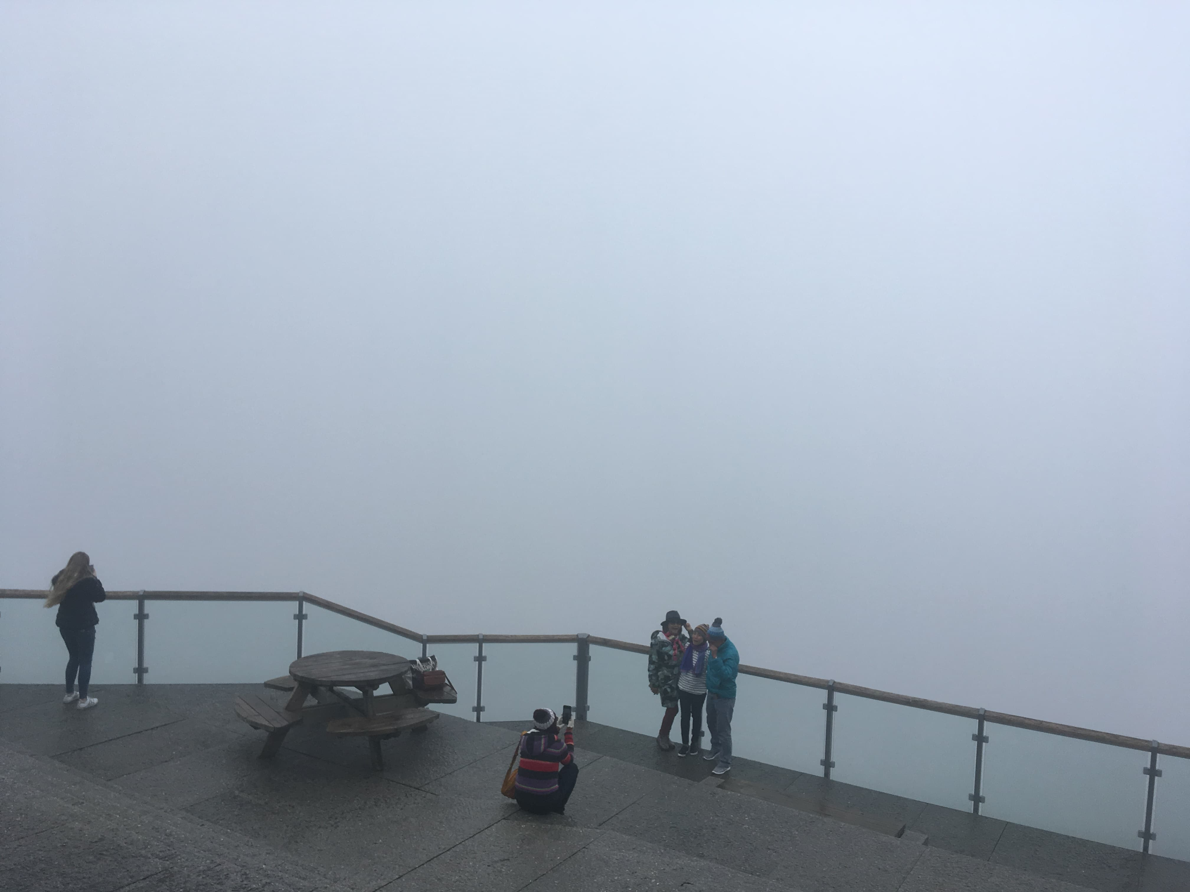 View of the fog in Bergen, Norwegian Fjords cruise, Funicular railway