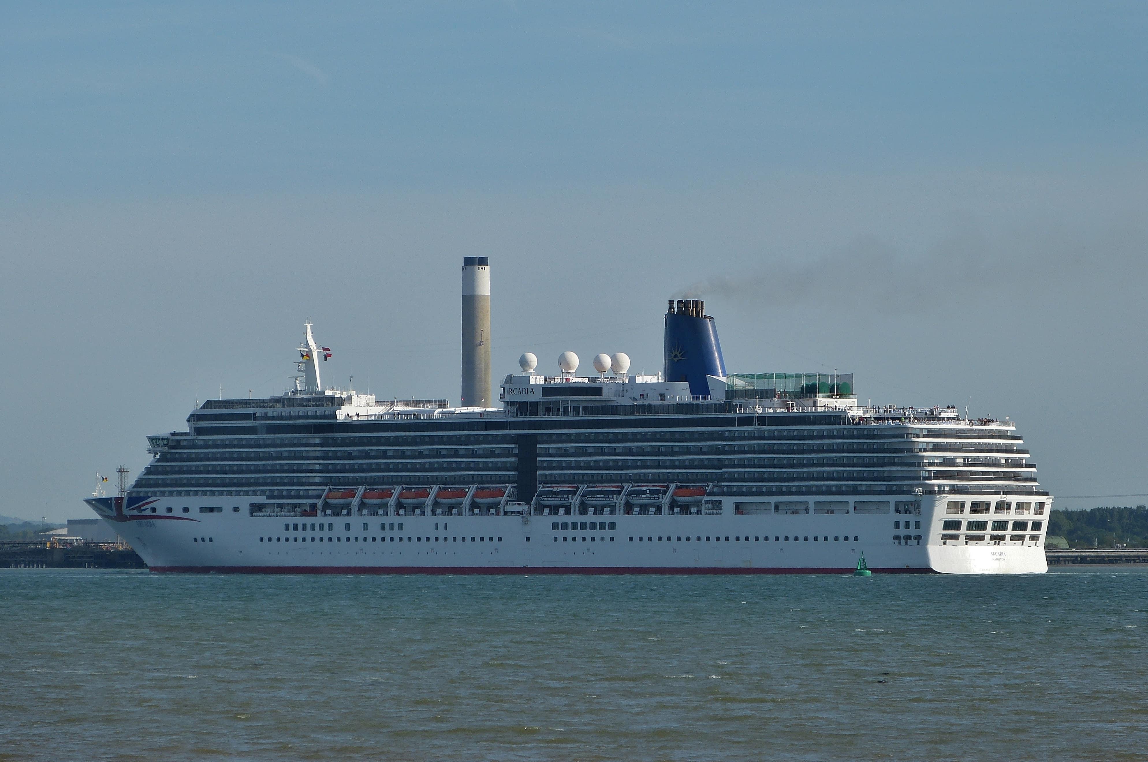 Royal Victoria Park southampton cruise ship arcadia