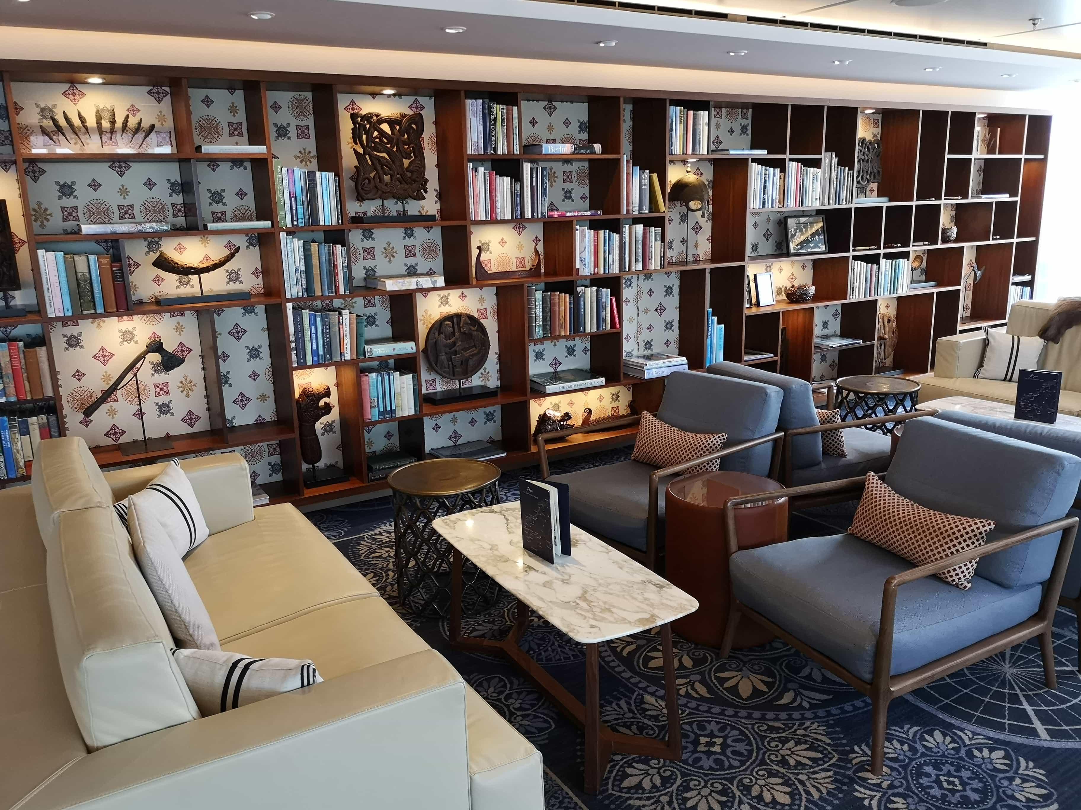 Viking Cruises Sea - Explorers Lounge Bookcase